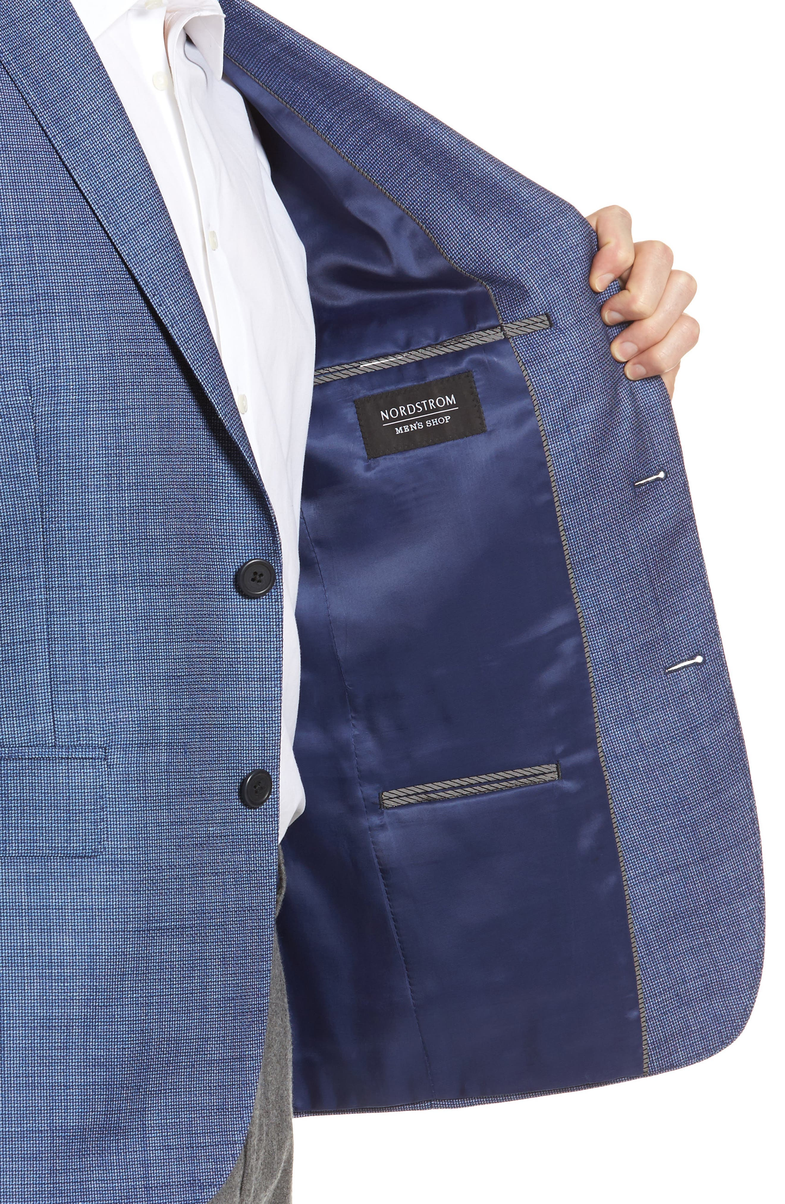 Extra Trim Fit Wool & Linen Blazer,                             Alternate thumbnail 4, color,                             401