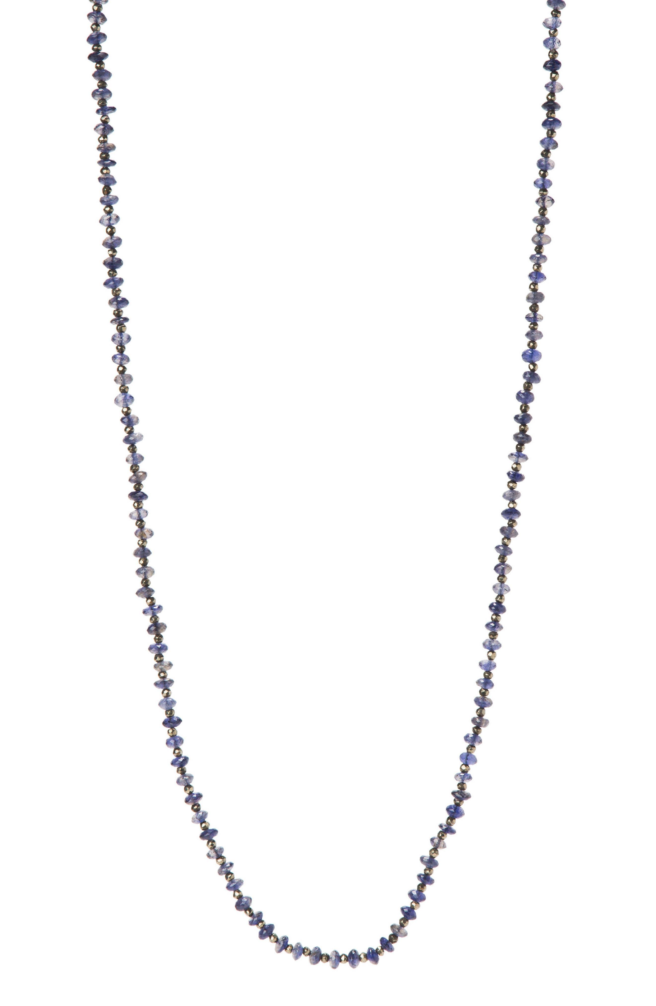 Solana Semiprecious Stone Necklace,                             Main thumbnail 1, color,                             IOLITE