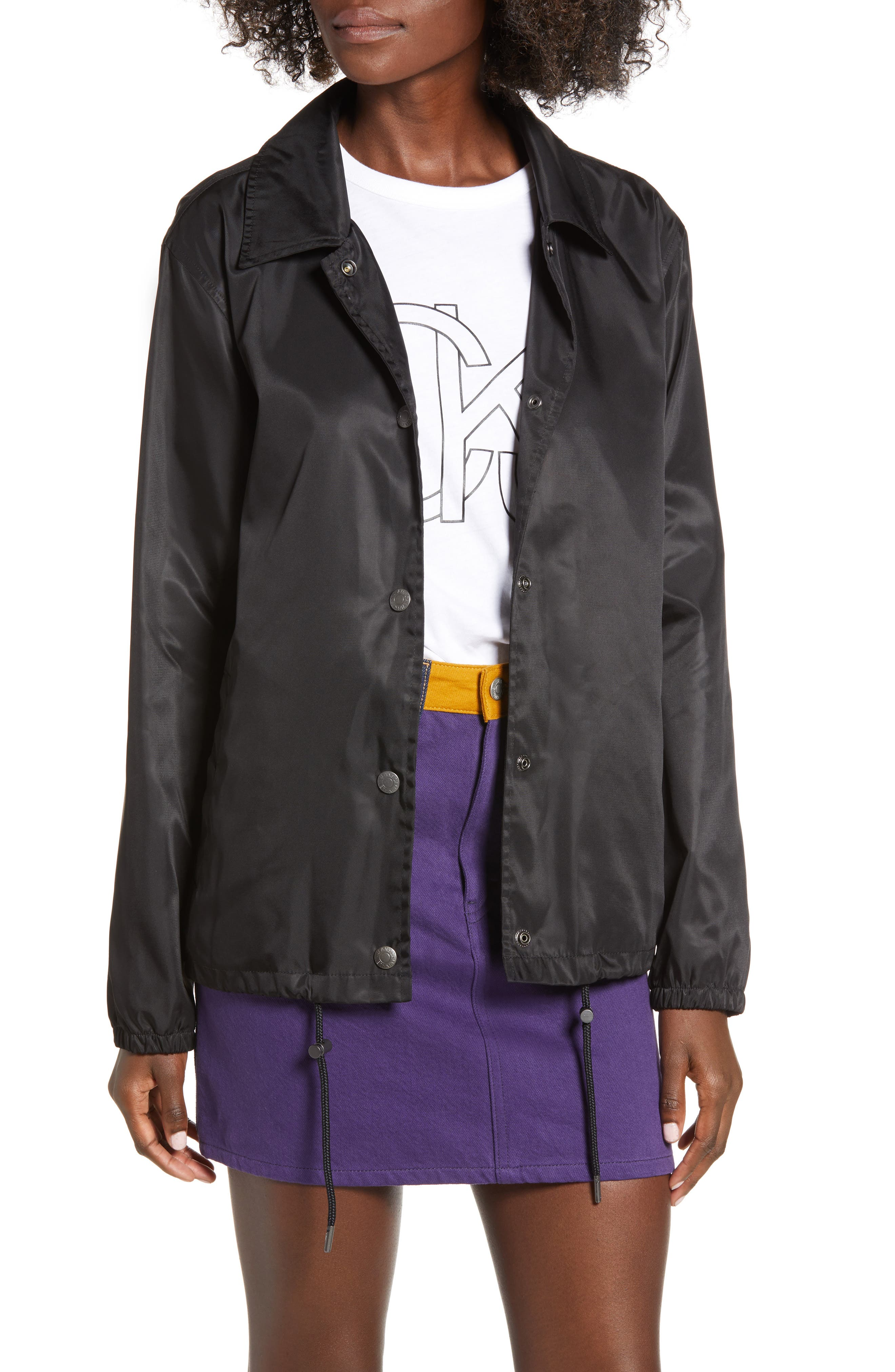 Coach Jacket,                         Main,                         color, BLACK