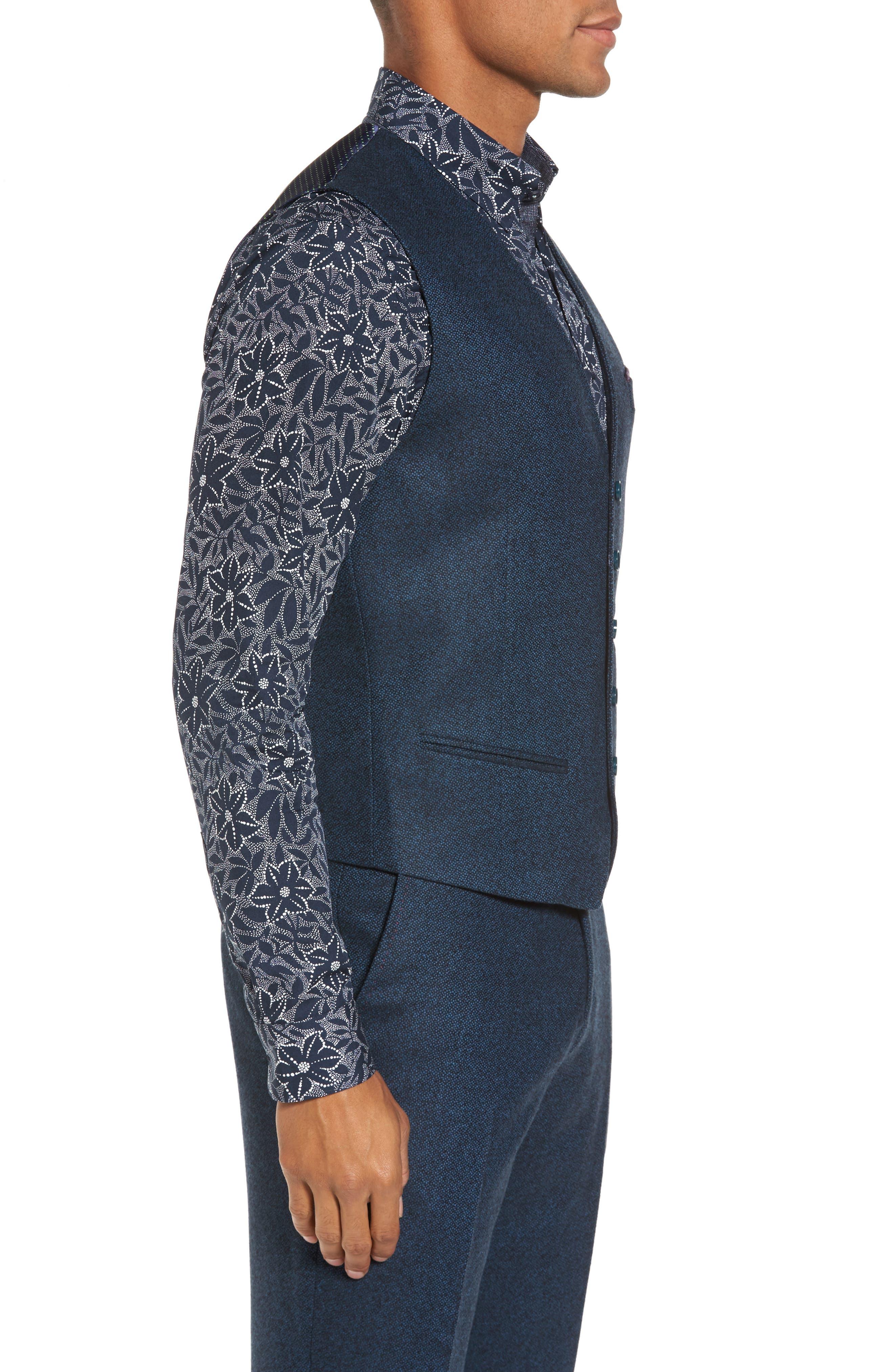 Modern Slim Fit Waistcoat,                             Alternate thumbnail 3, color,                             460