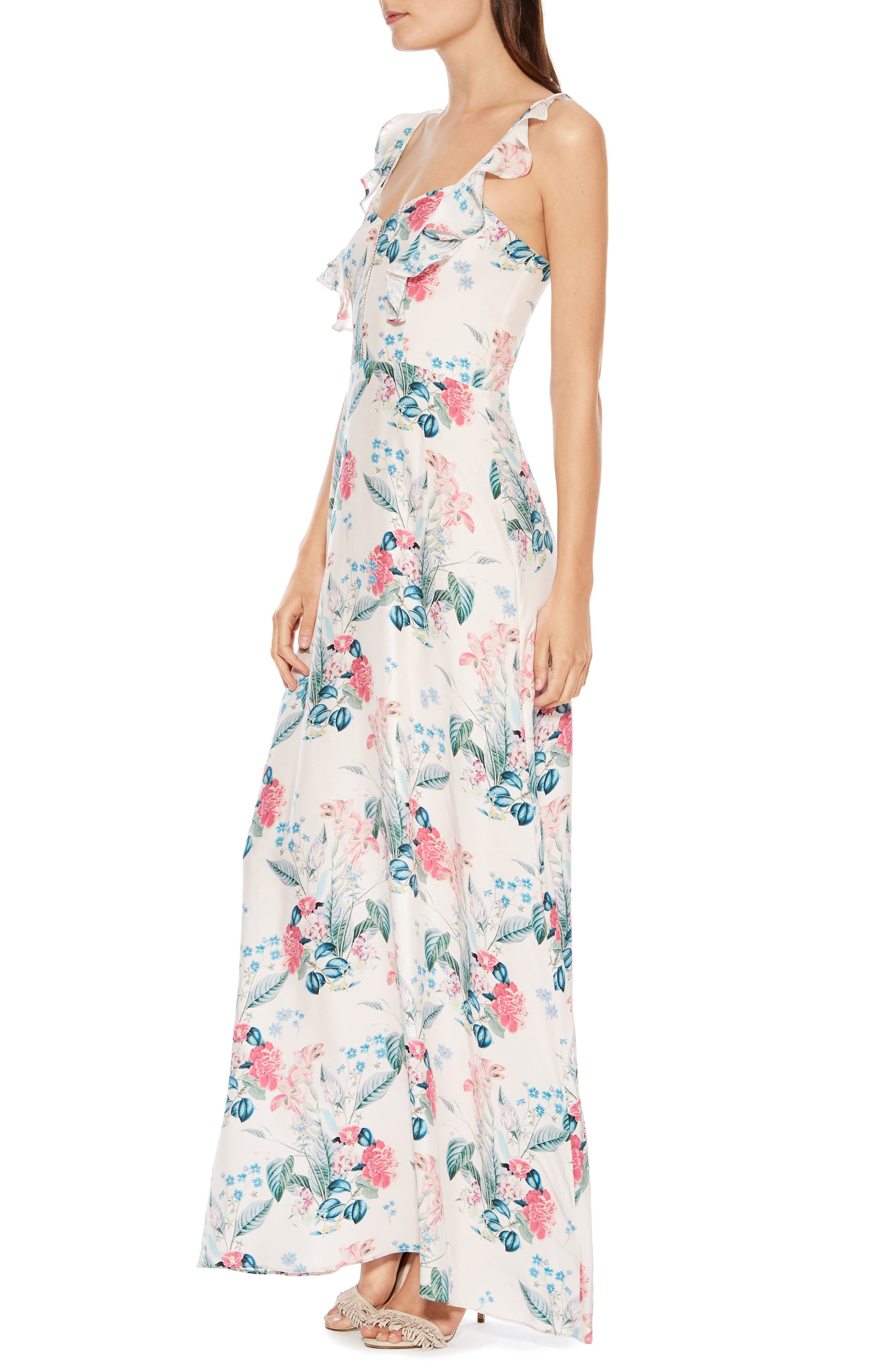 Mimi Silk Maxi Dress,                             Alternate thumbnail 3, color,