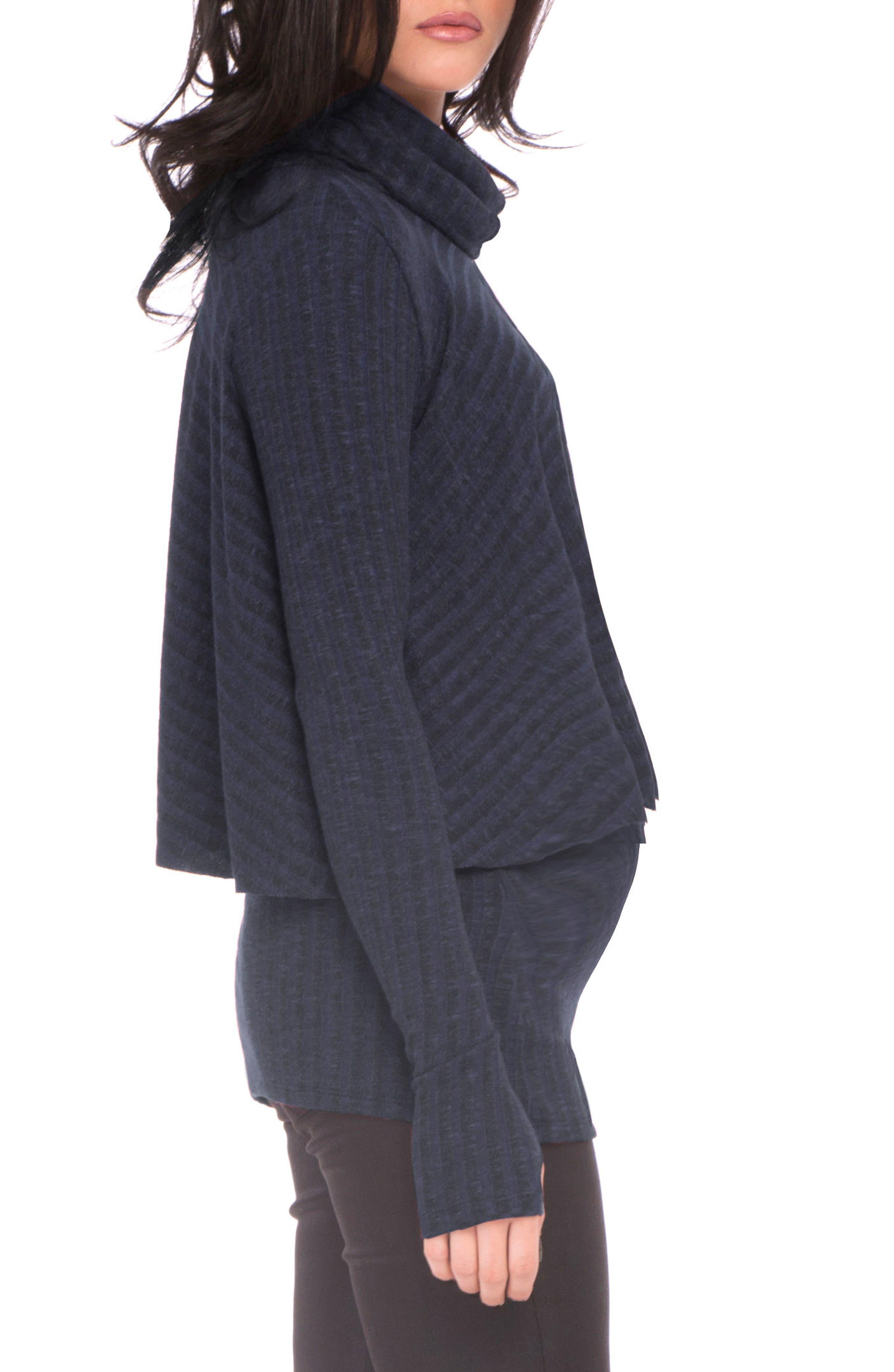 Kim Popver Maternity/Nursing Tunic Top,                             Alternate thumbnail 3, color,                             417
