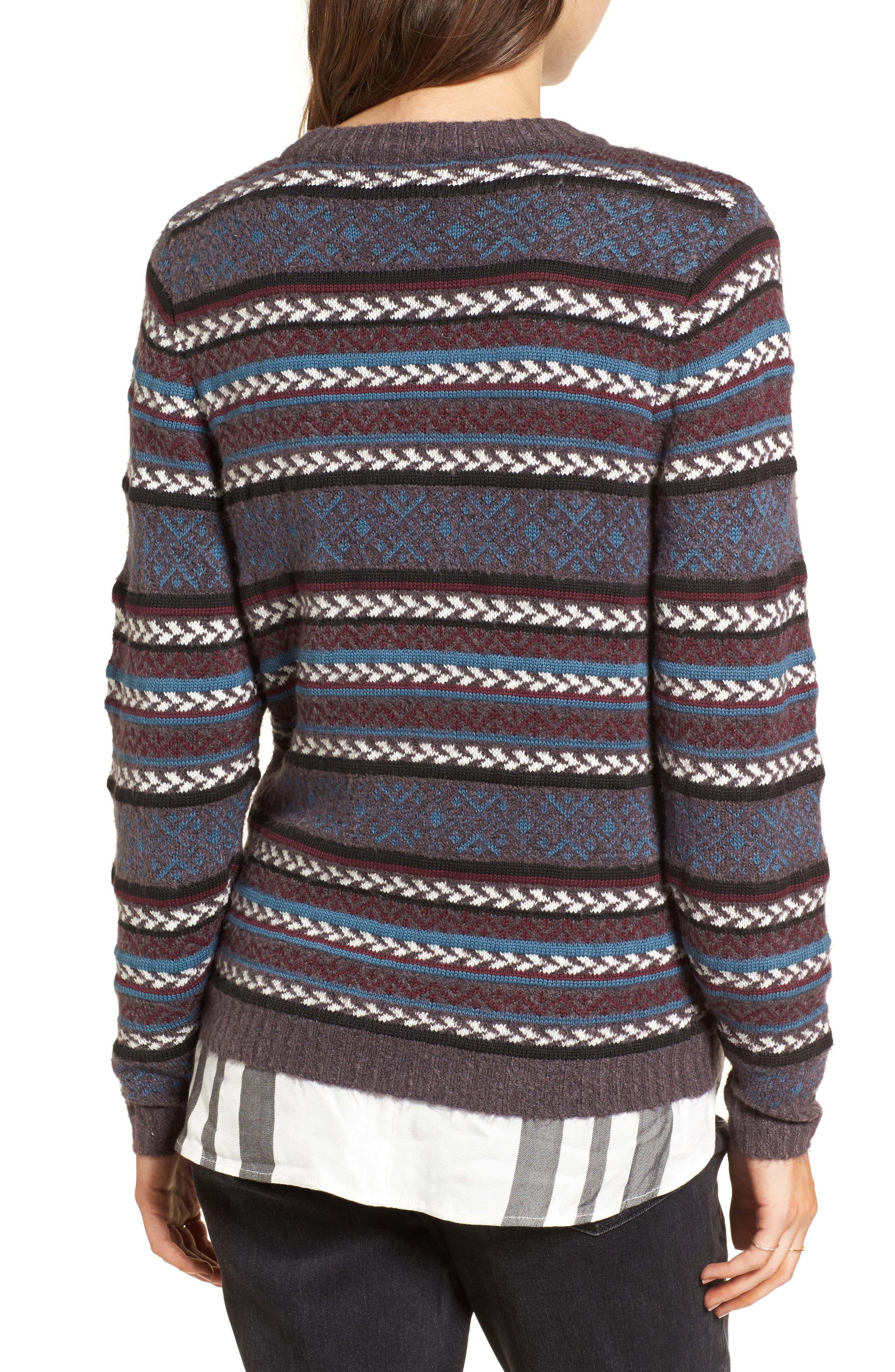 Fair Isle Stripe Sweater,                             Alternate thumbnail 2, color,                             930