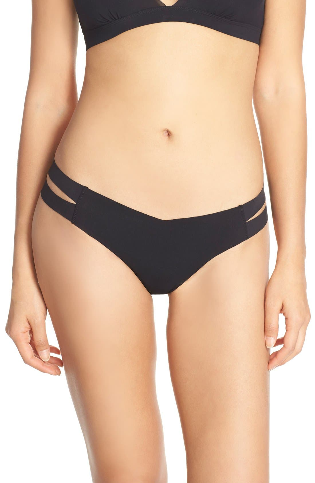 Strappy Sides Thong,                         Main,                         color, 001