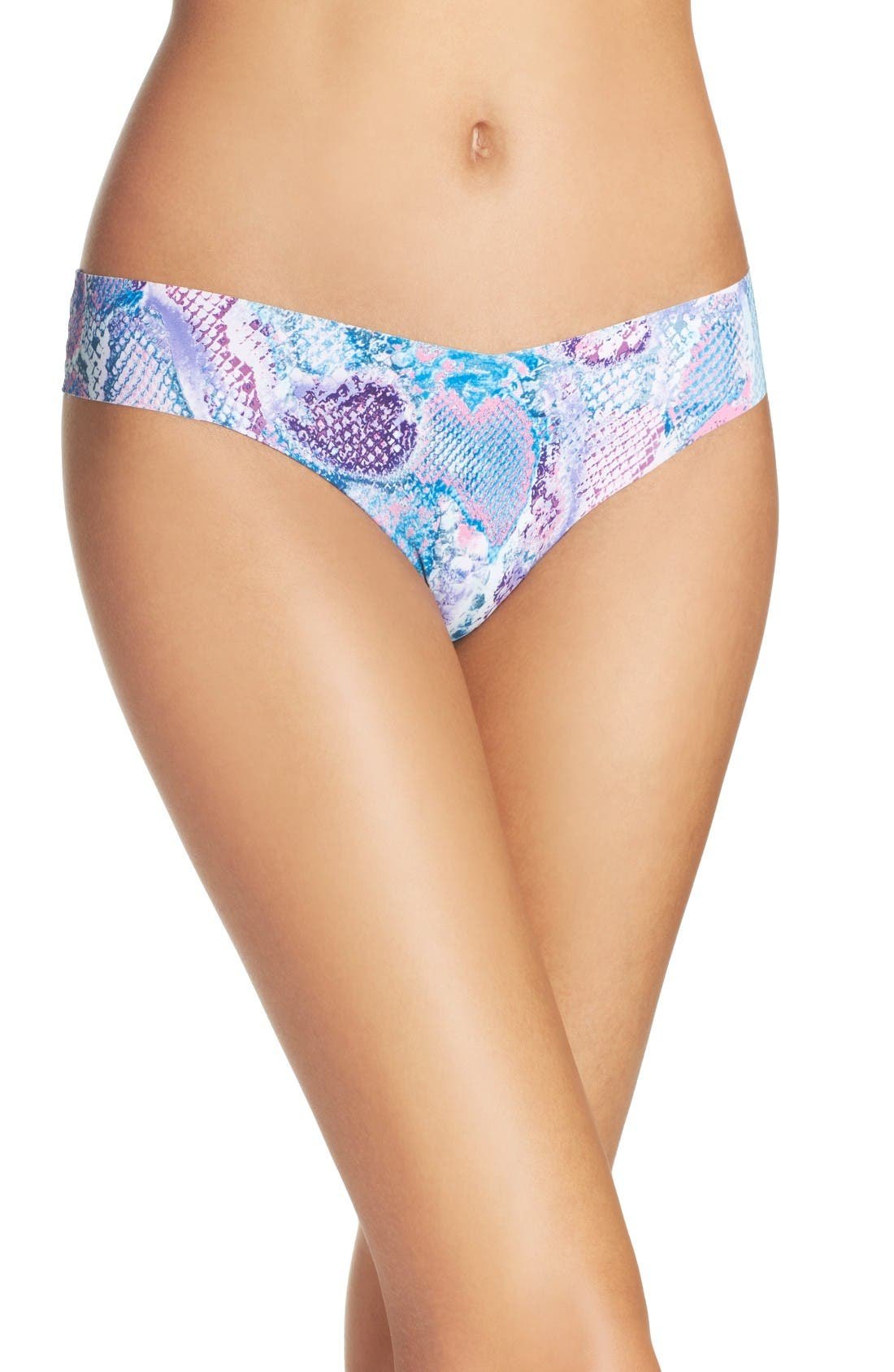 Print Microfiber Thong,                             Main thumbnail 55, color,