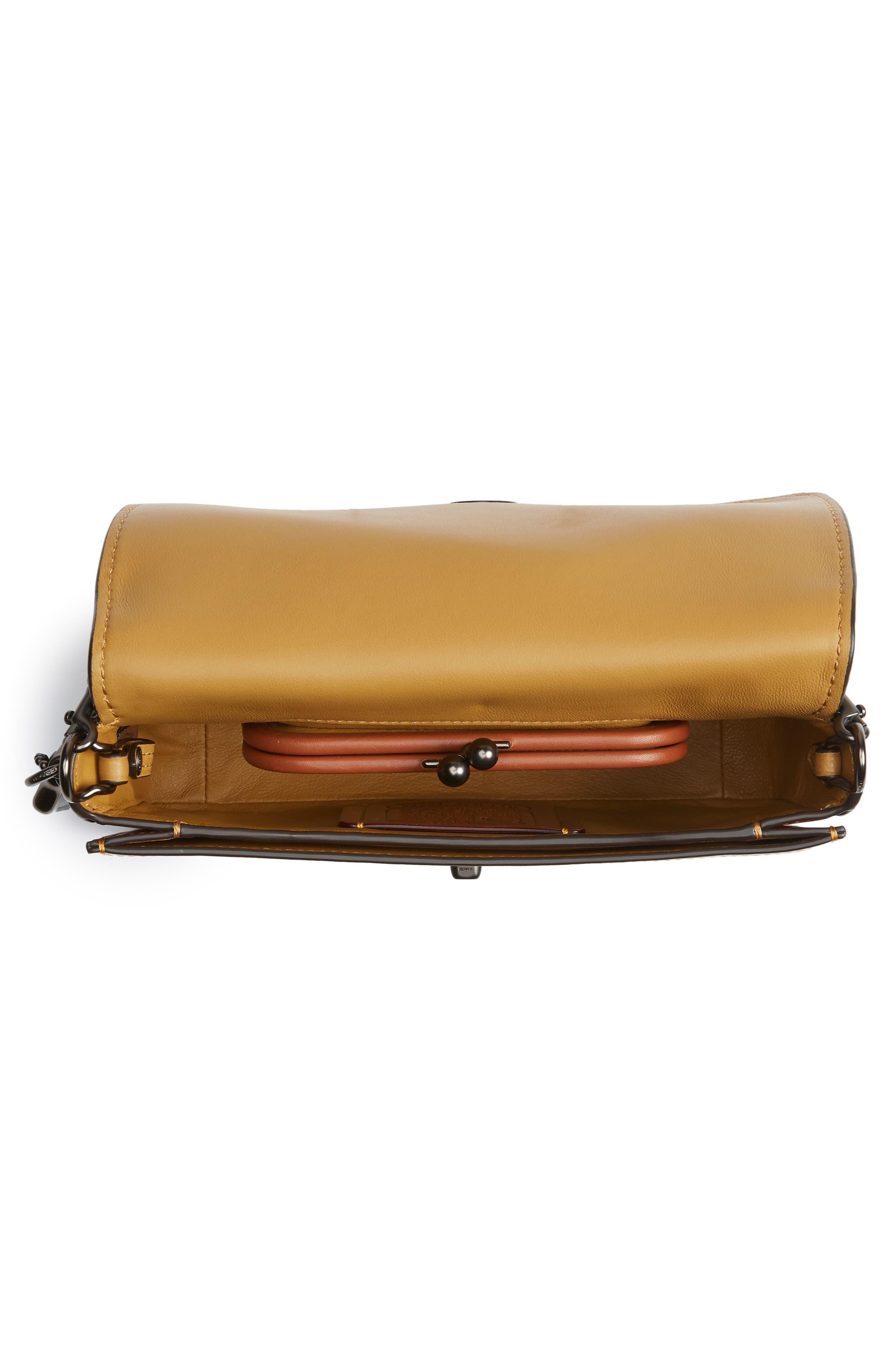 Dinky Colorblock Leather Crossbody Bag,                             Alternate thumbnail 4, color,                             CHALK MULTI