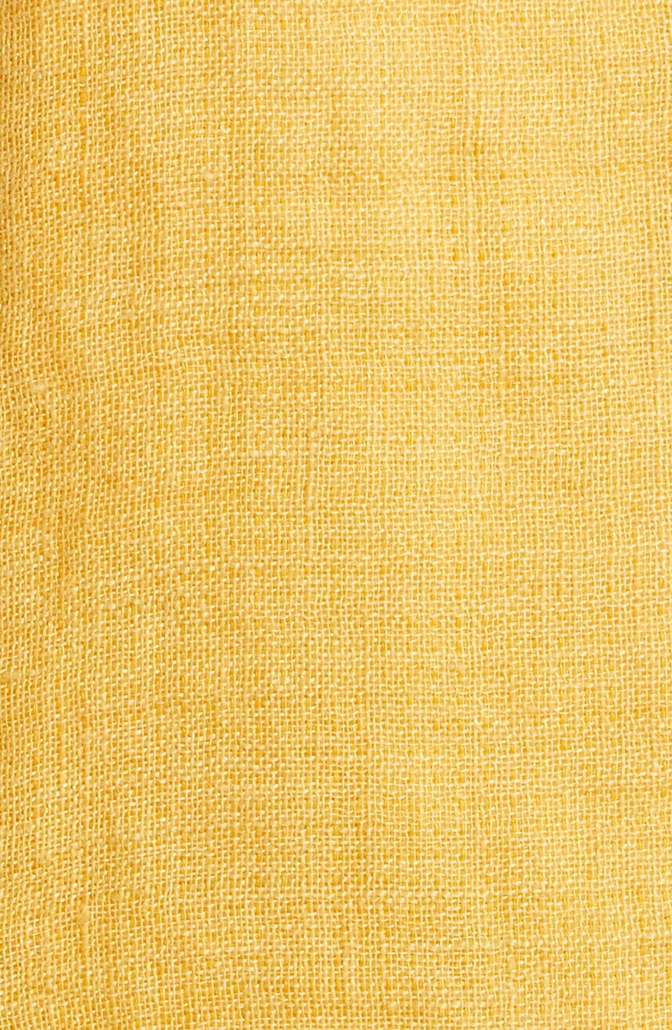 EILEEN FISHER,                             Organic Linen Utility Jacket,                             Alternate thumbnail 7, color,                             MARIGOLD