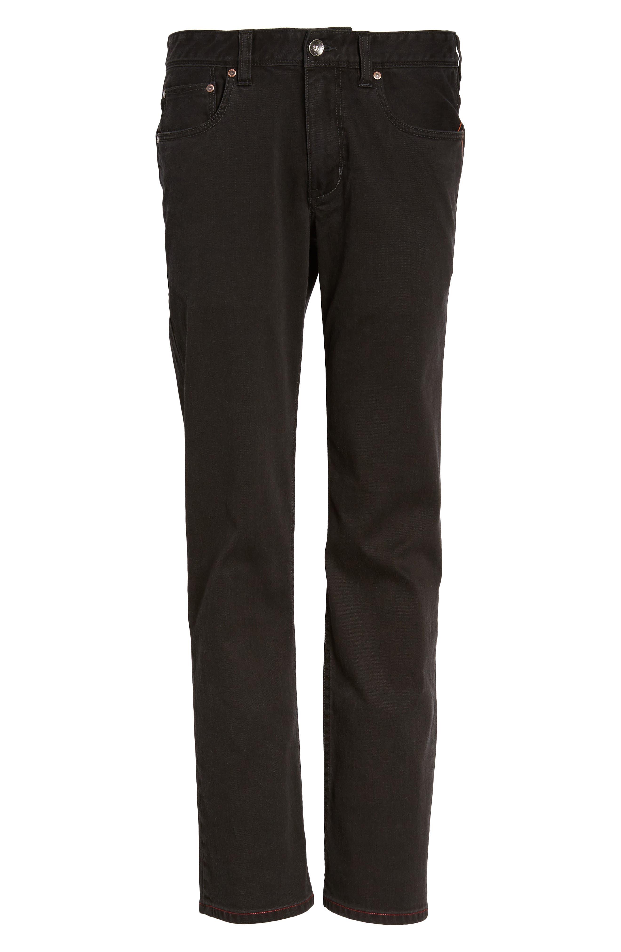 Sand Drifter Straight Leg Jeans,                             Alternate thumbnail 6, color,                             001