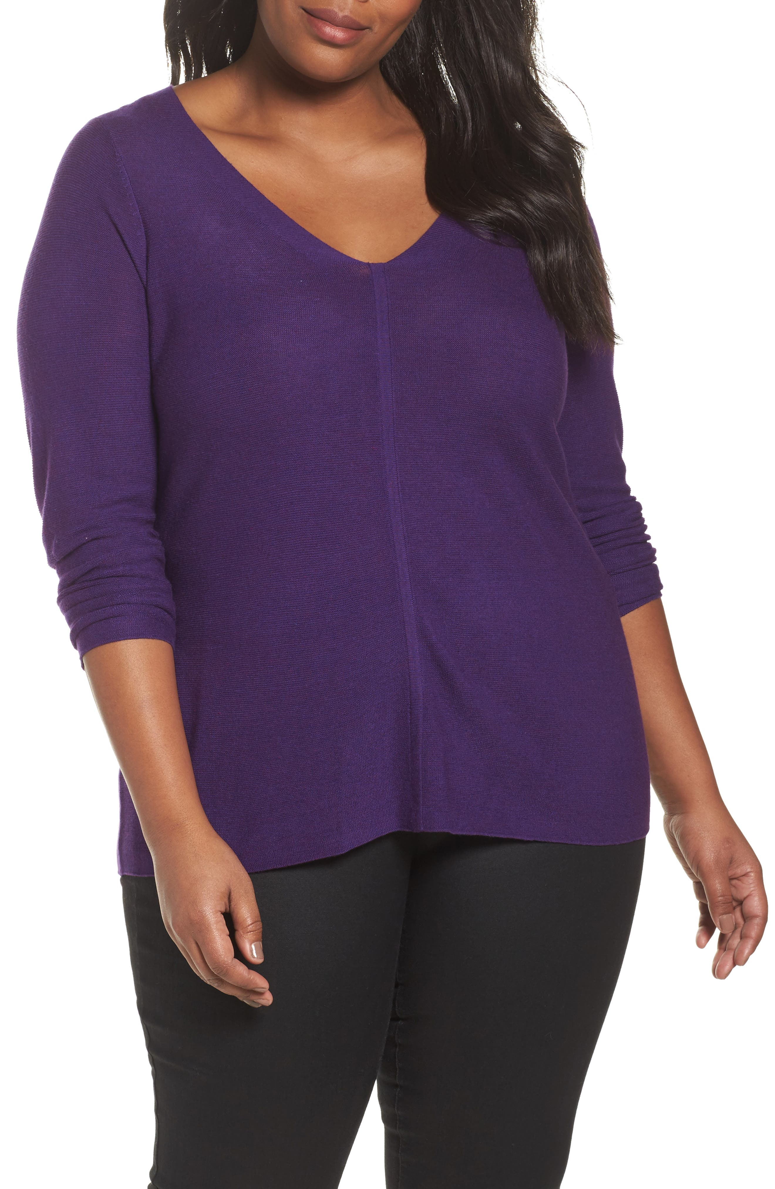 V-Neck Sweater,                             Main thumbnail 4, color,