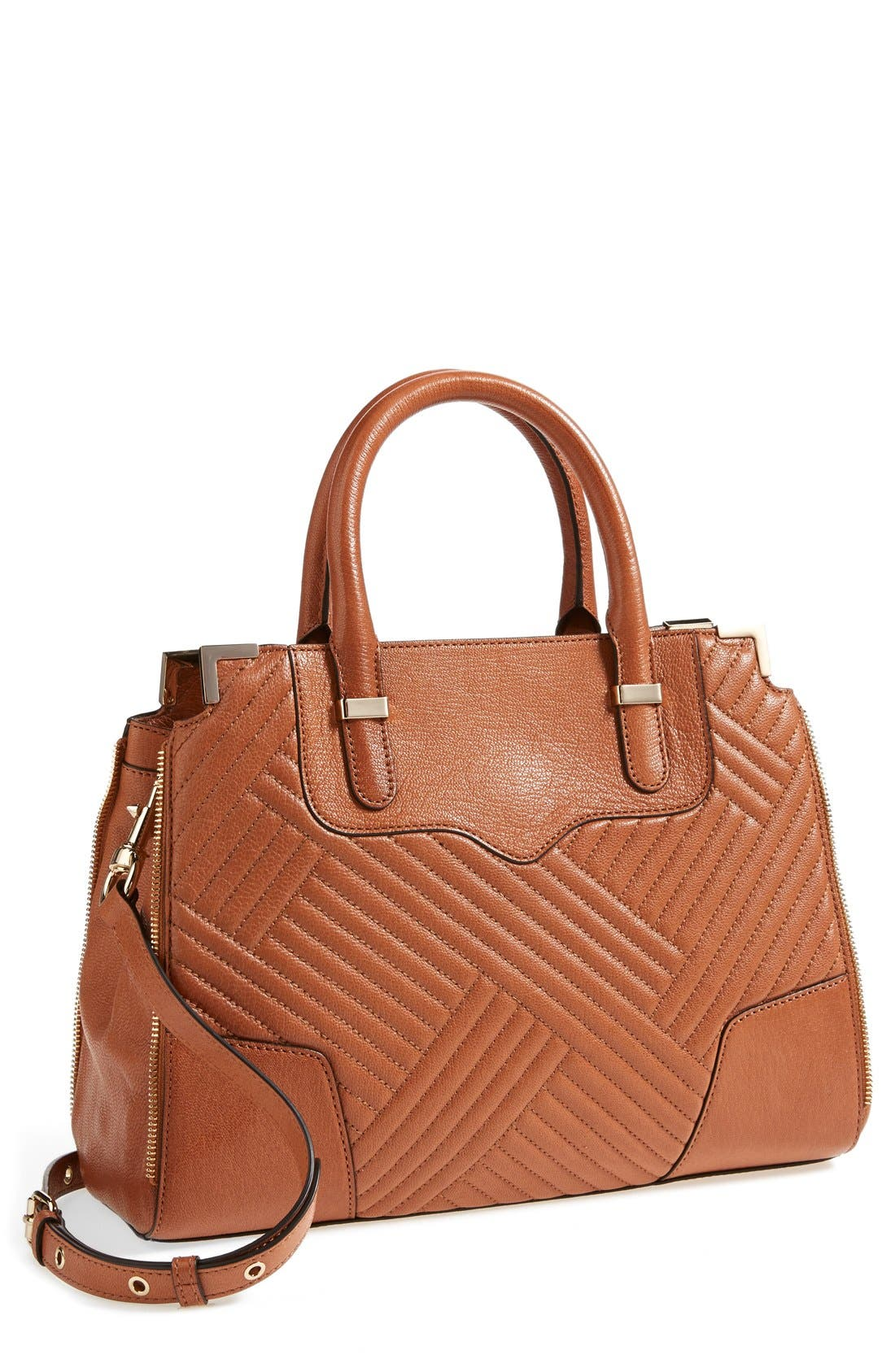 'Amorous' Quilted Satchel,                             Main thumbnail 2, color,