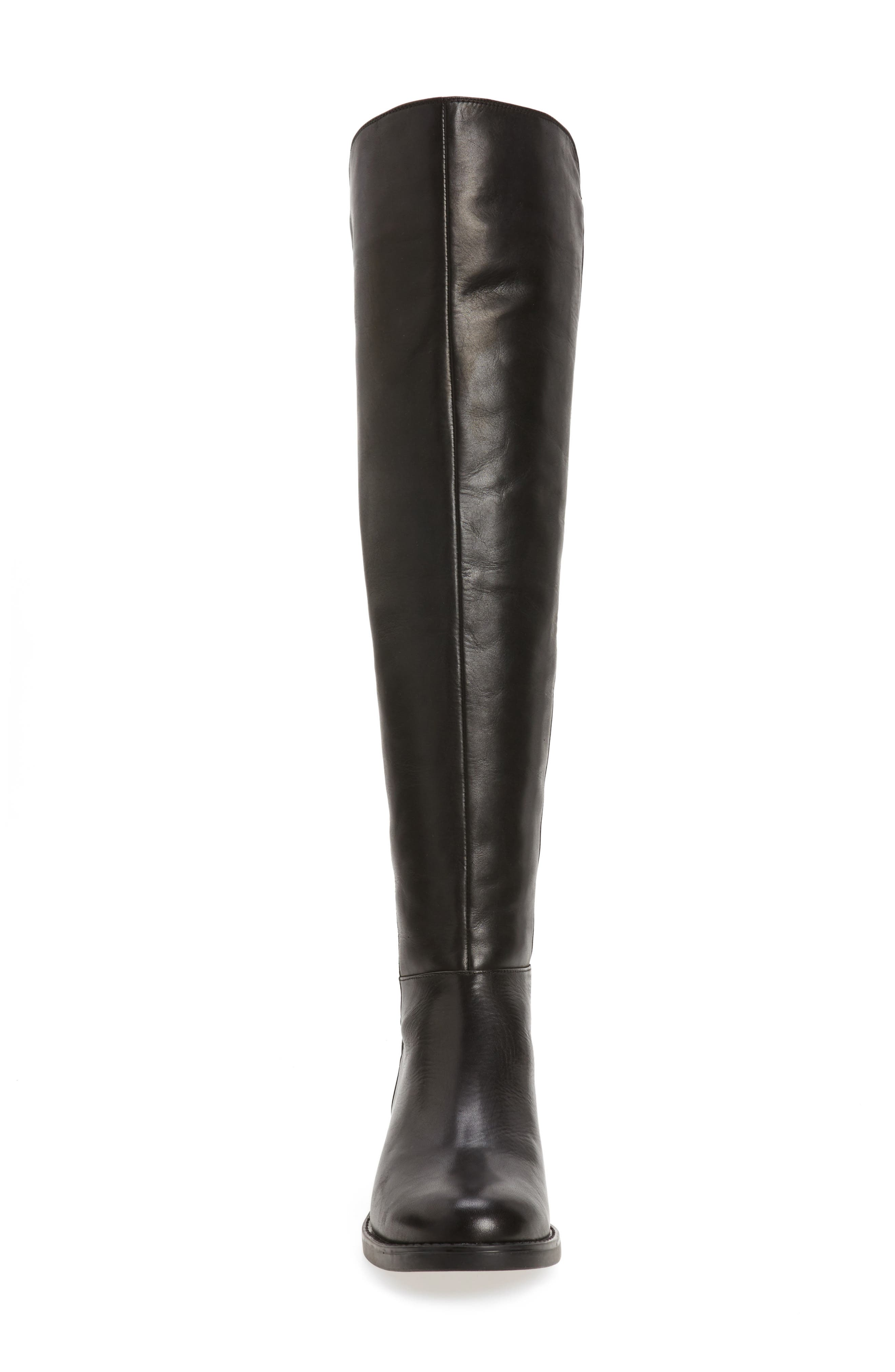 Olivia Knee High Boot,                             Alternate thumbnail 4, color,                             001