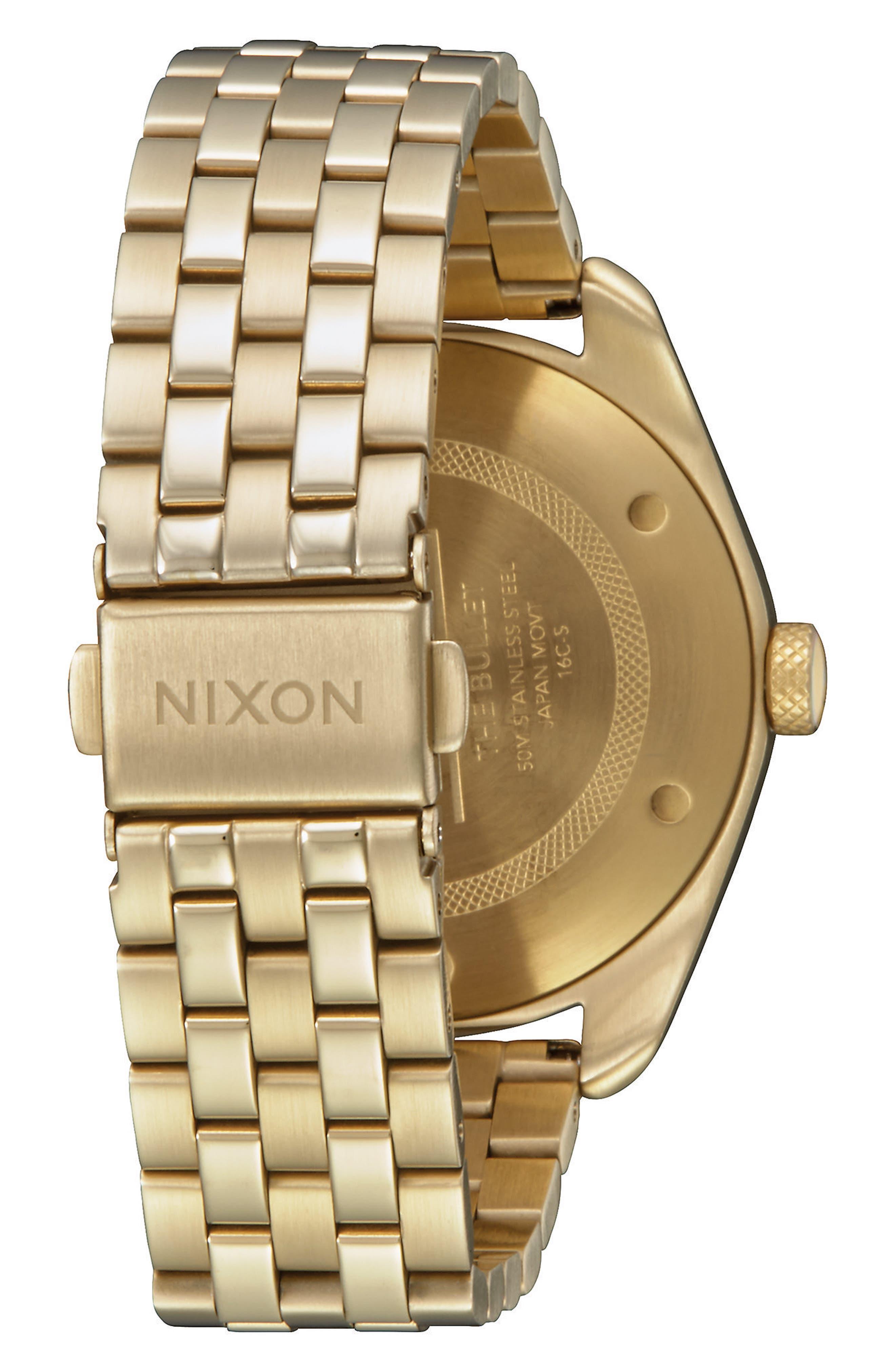 Bullet Bracelet Watch, 38mm,                             Alternate thumbnail 2, color,                             LIGHT GOLD/ YELLOW