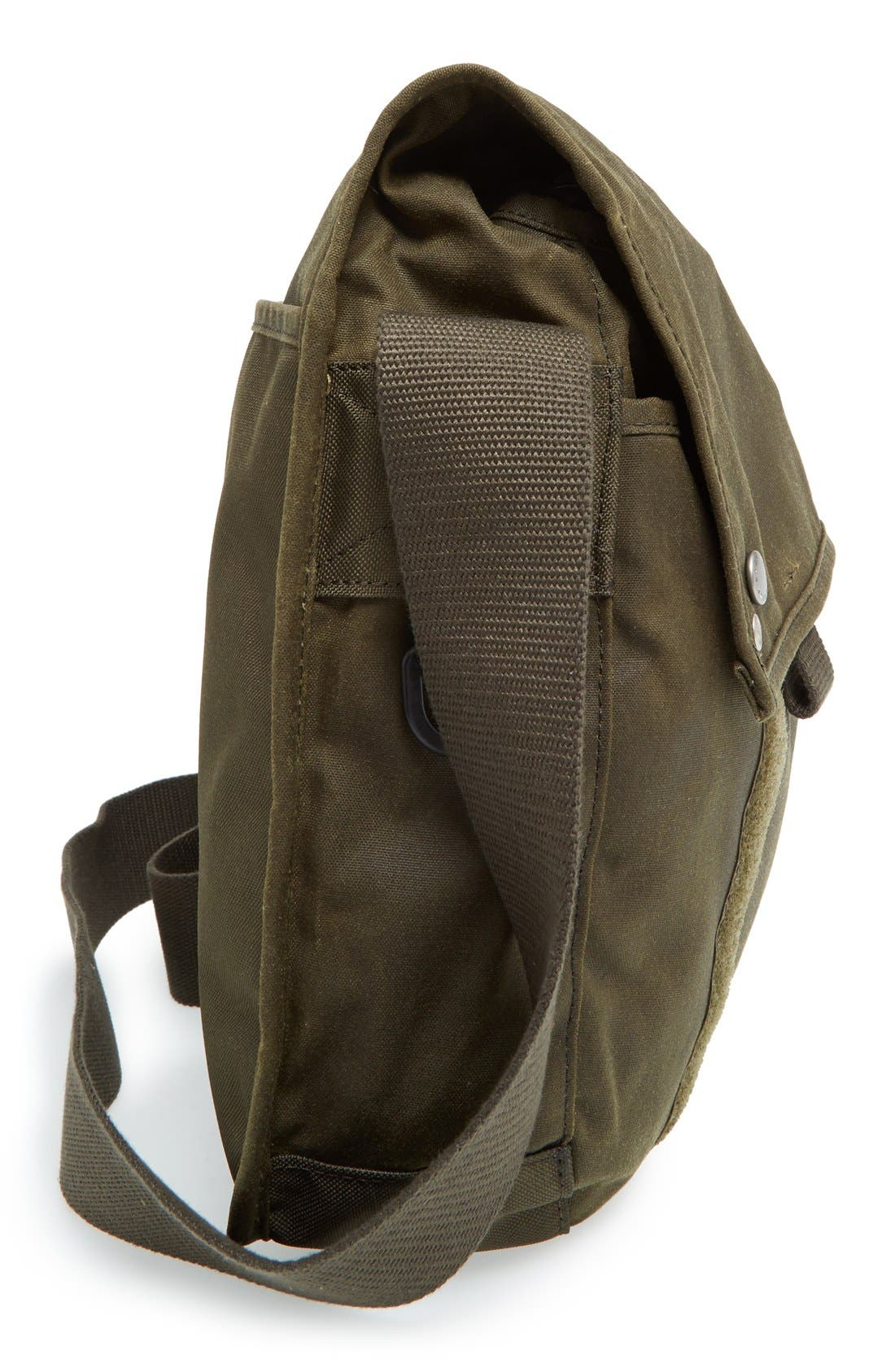BARBOUR,                             Waxed Canvas Messenger Bag,                             Alternate thumbnail 2, color,                             340