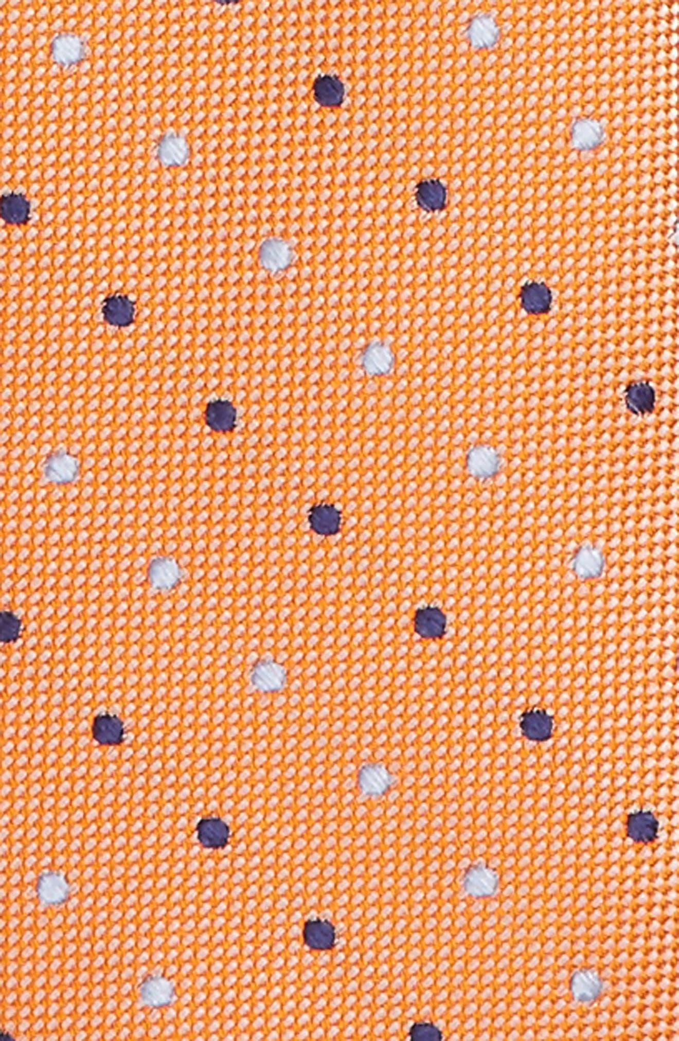 Dot Zip Silk Tie,                             Alternate thumbnail 2, color,                             810