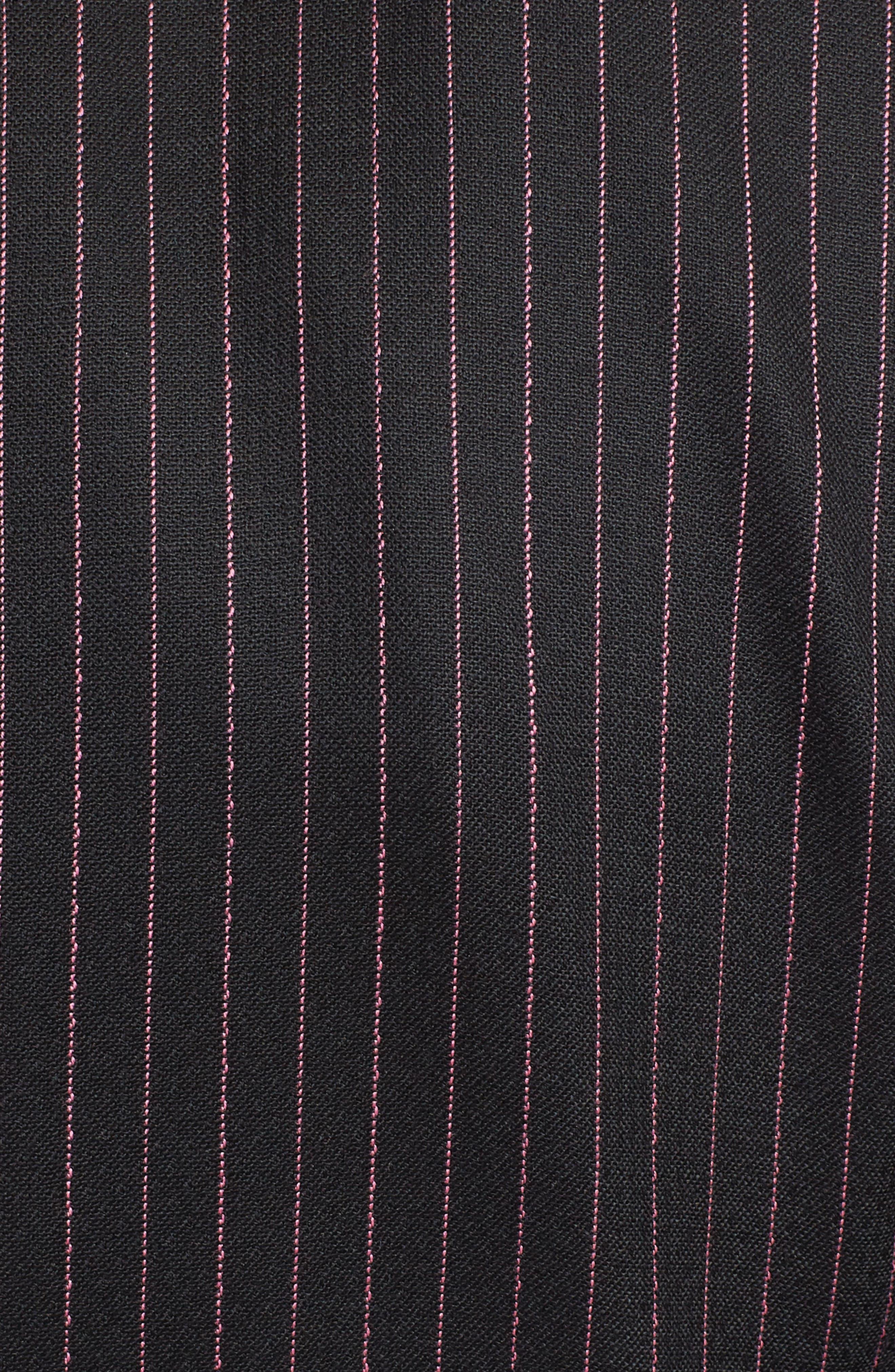 Pinstripe Stretch Wool Jacket,                             Alternate thumbnail 5, color,                             BLACK