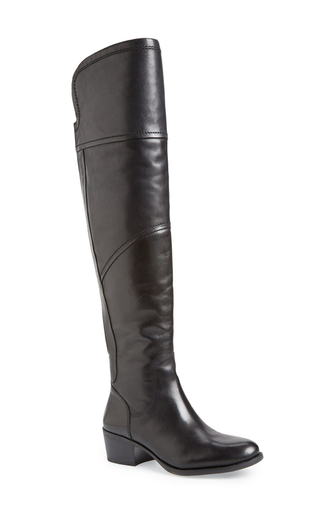 VINCE CAMUTO 'Bernadine' Over the Knee Boot, Main, color, 001