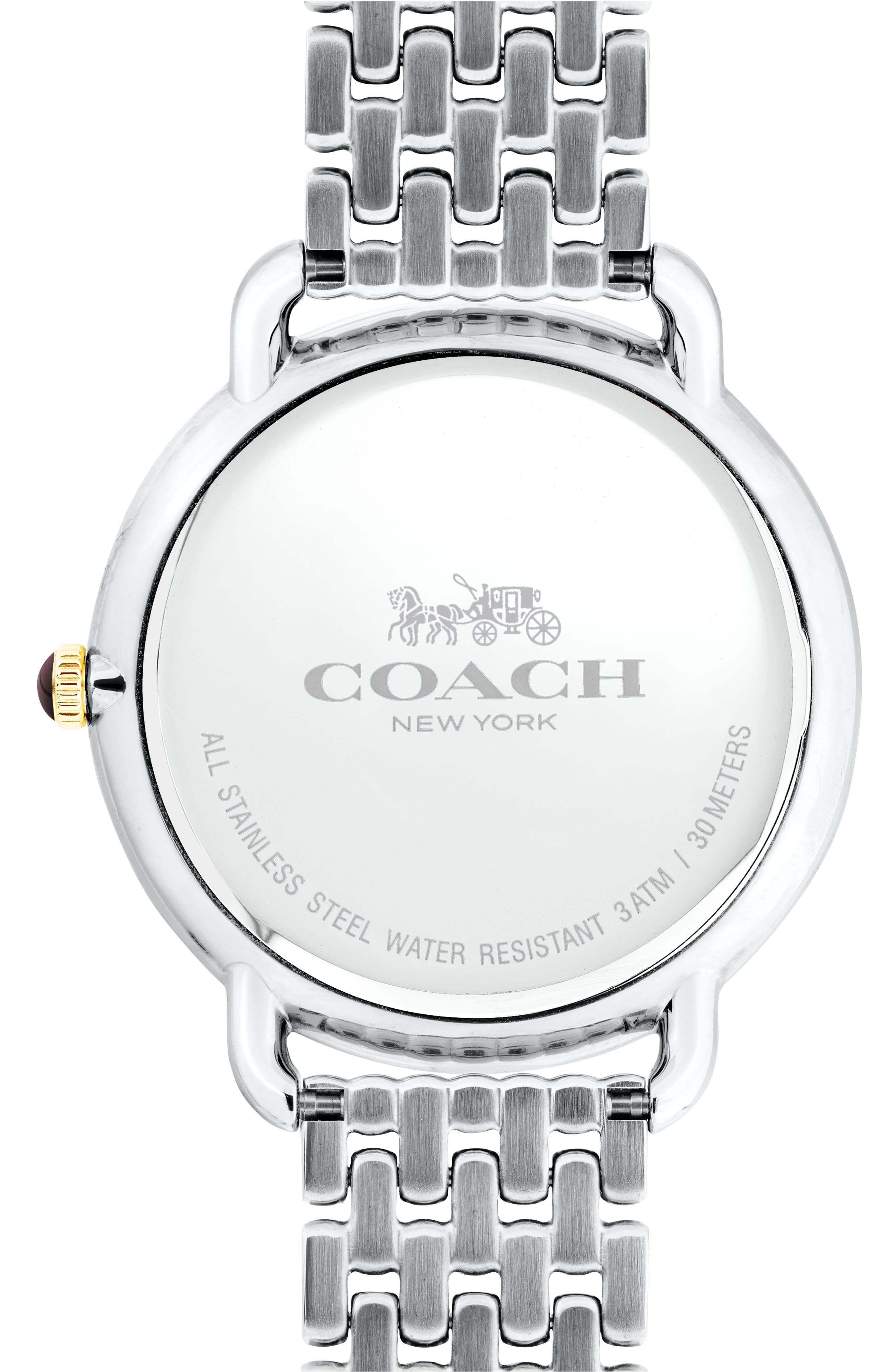Delancey Slim Diamond Bracelet Watch, 37mm,                             Alternate thumbnail 2, color,                             SILVER/ GOLD