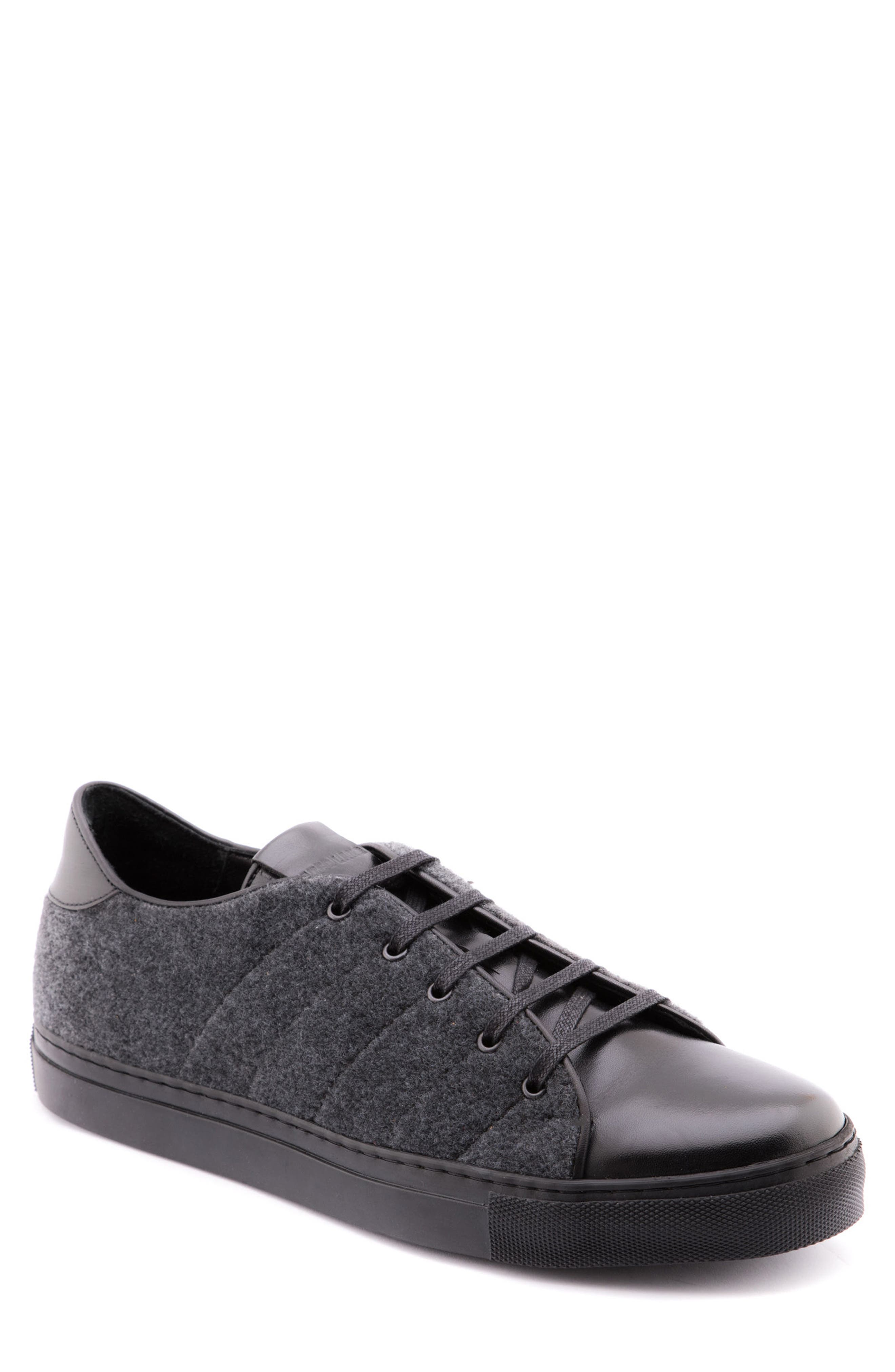 Travis Leather Sneaker,                         Main,                         color, GREY