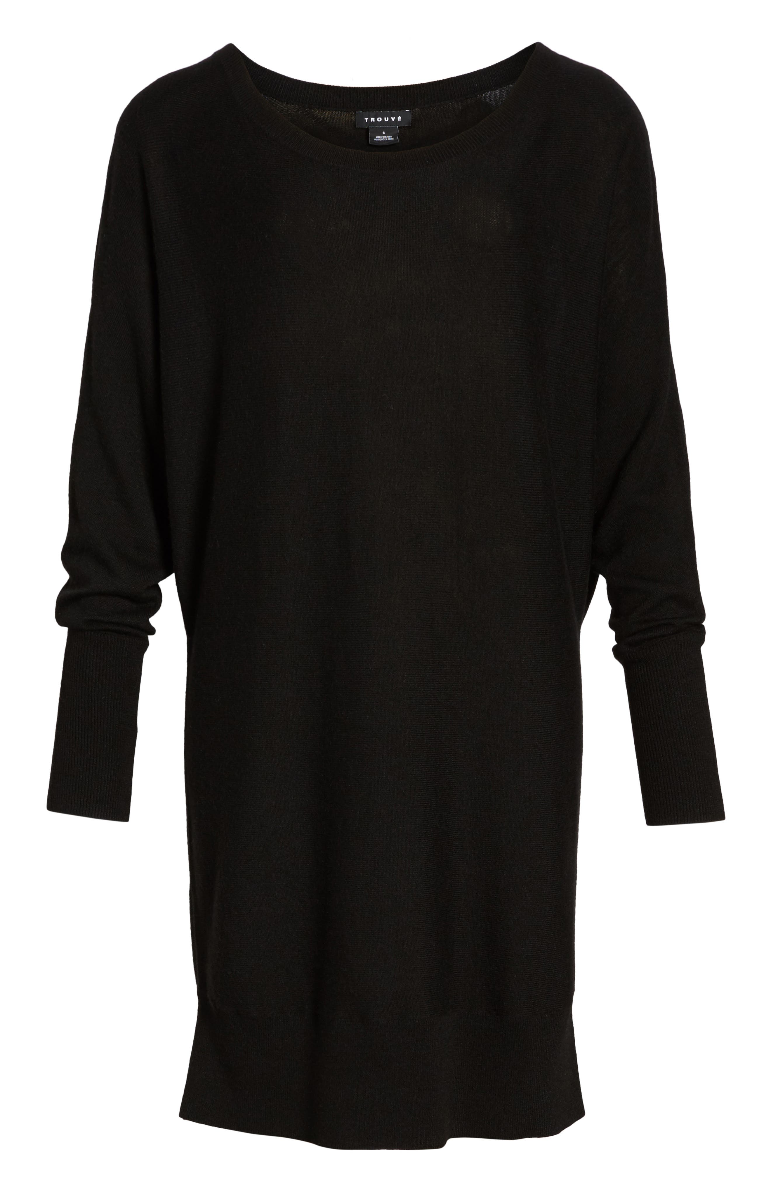 Off the Shoulder Sweater Tunic,                             Alternate thumbnail 6, color,                             001