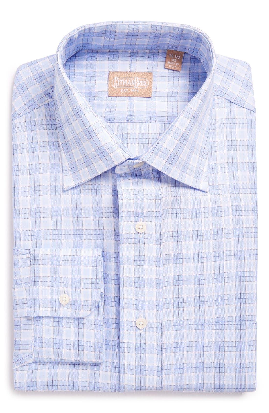 'Broadcloth' Regular Fit Check Dress Shirt,                             Alternate thumbnail 3, color,