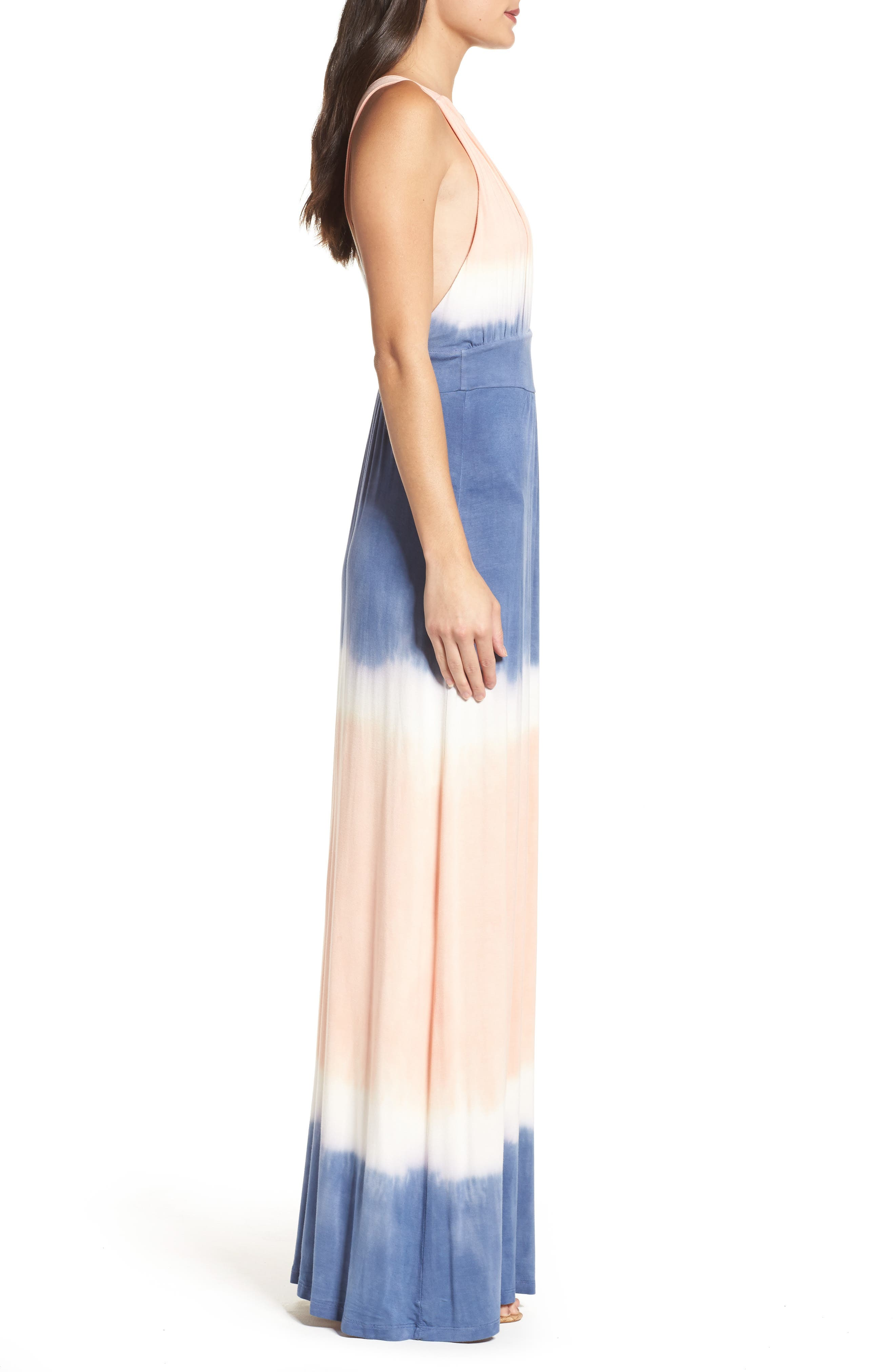 Tie Dye Sleeveless Maxi Dress,                             Alternate thumbnail 4, color,                             400
