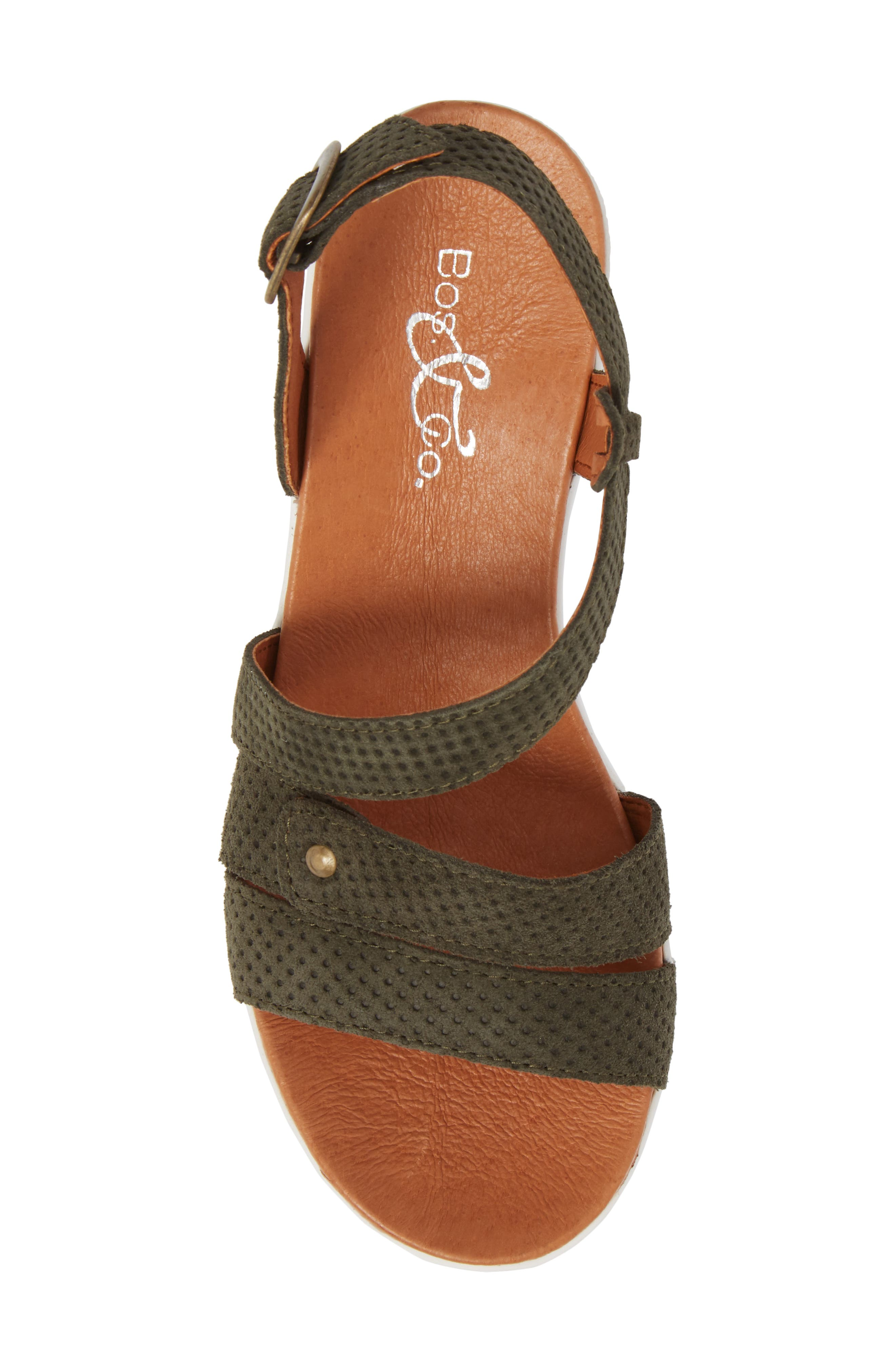 Sierra Platform Wedge Sandal,                             Alternate thumbnail 5, color,                             MINT LEATHER