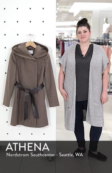 Cole Haan Belted Asymmetrical Wool Coat, sales video thumbnail