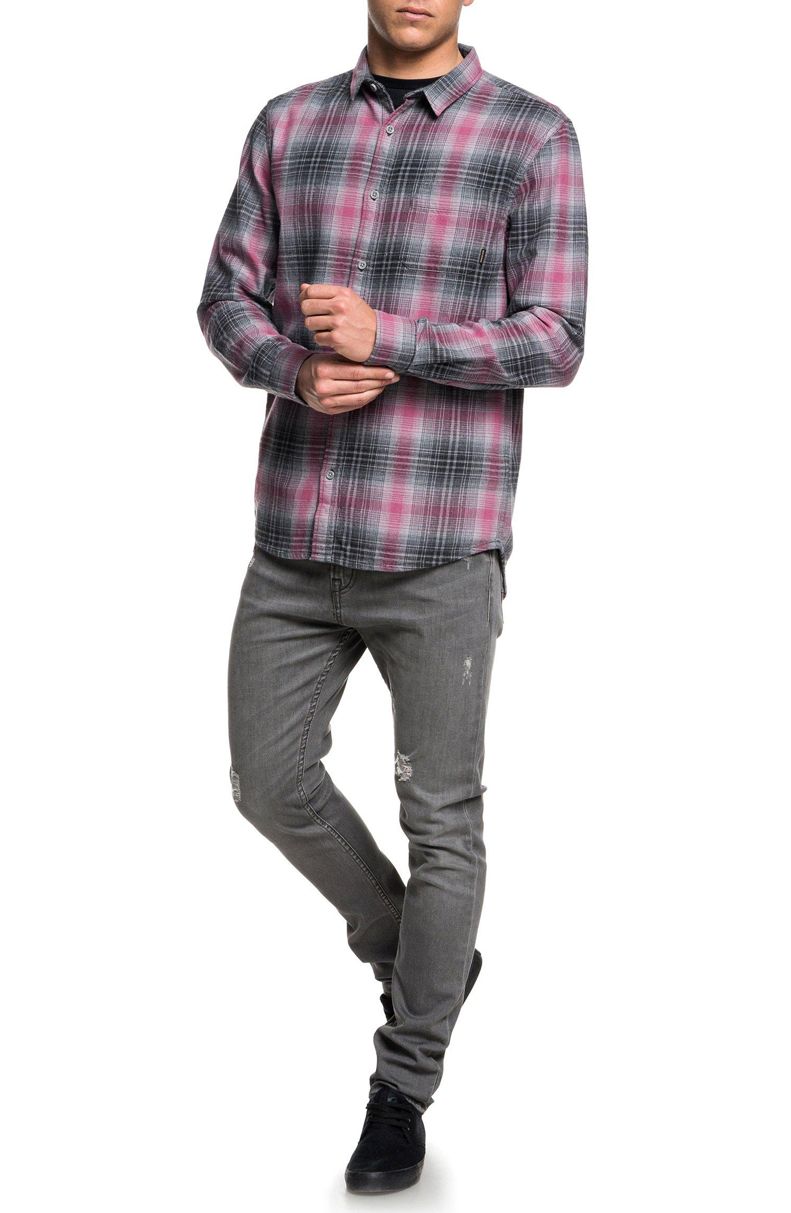 Fatherfly Flannel Shirt,                             Alternate thumbnail 3, color,                             TARMAC FATHERFLY CHECK