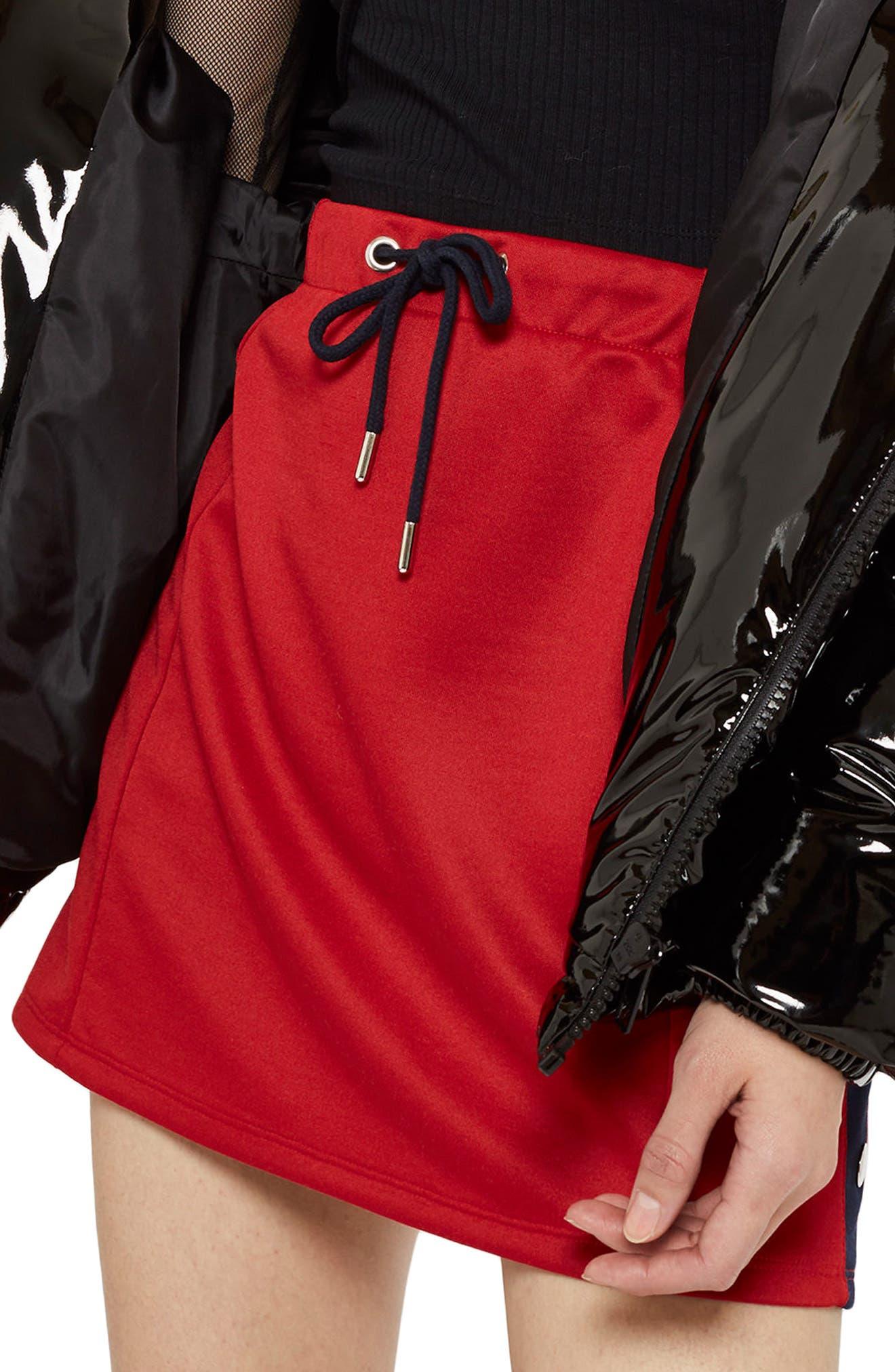 Sporty Popper Miniskirt,                             Main thumbnail 1, color,                             600