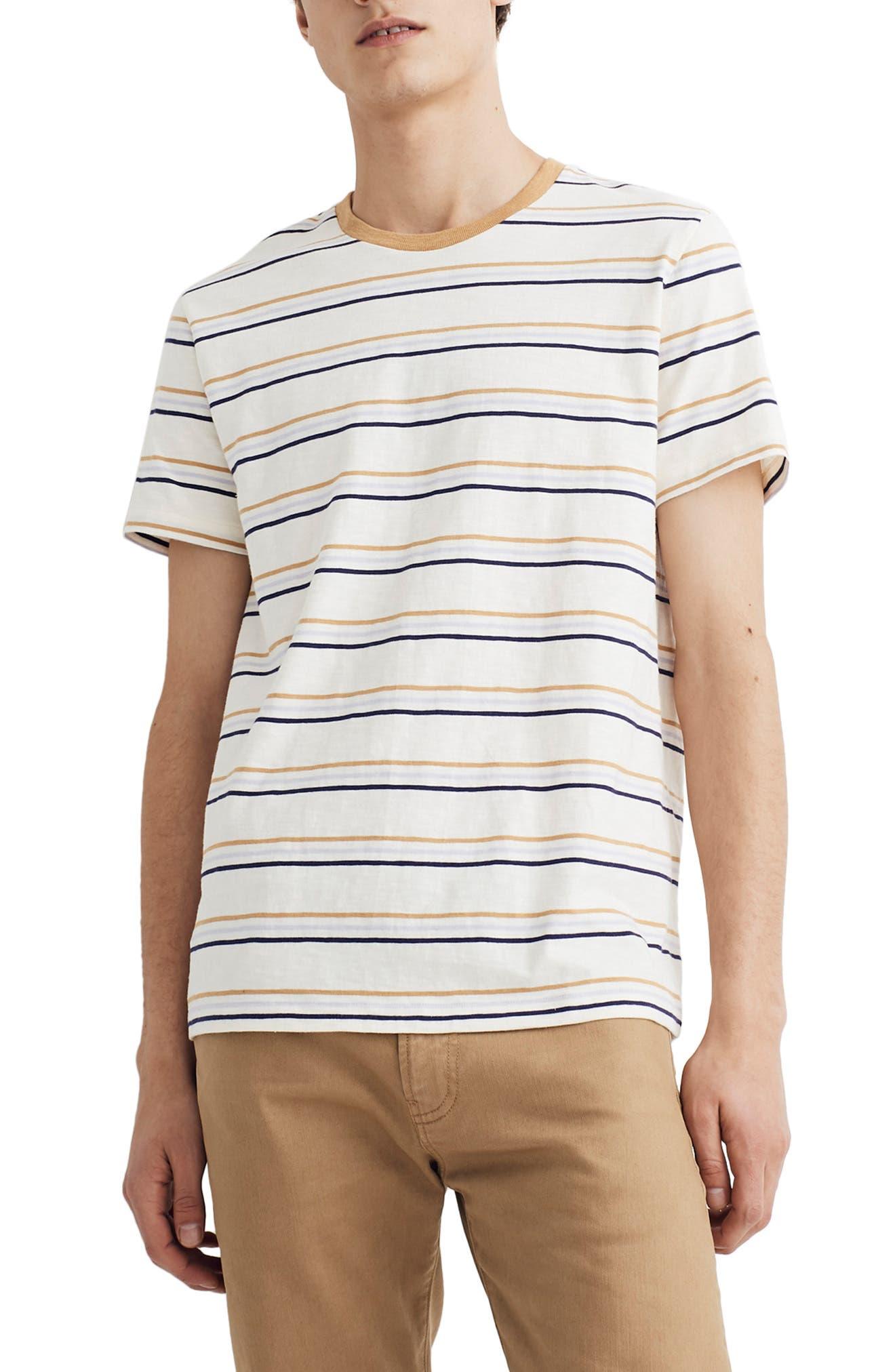 Madewell Essen Stripe Allday Crewneck T-Shirt, Yellow