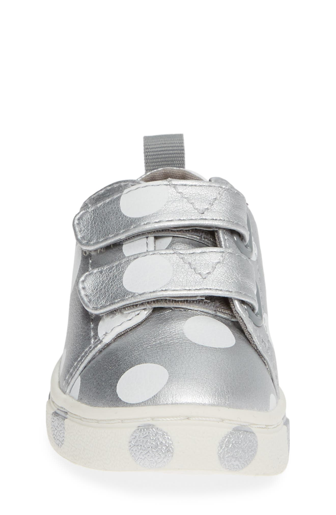 Lenny Sneaker,                             Alternate thumbnail 4, color,                             SILVER SYNTHETIC LEATHER DOTS