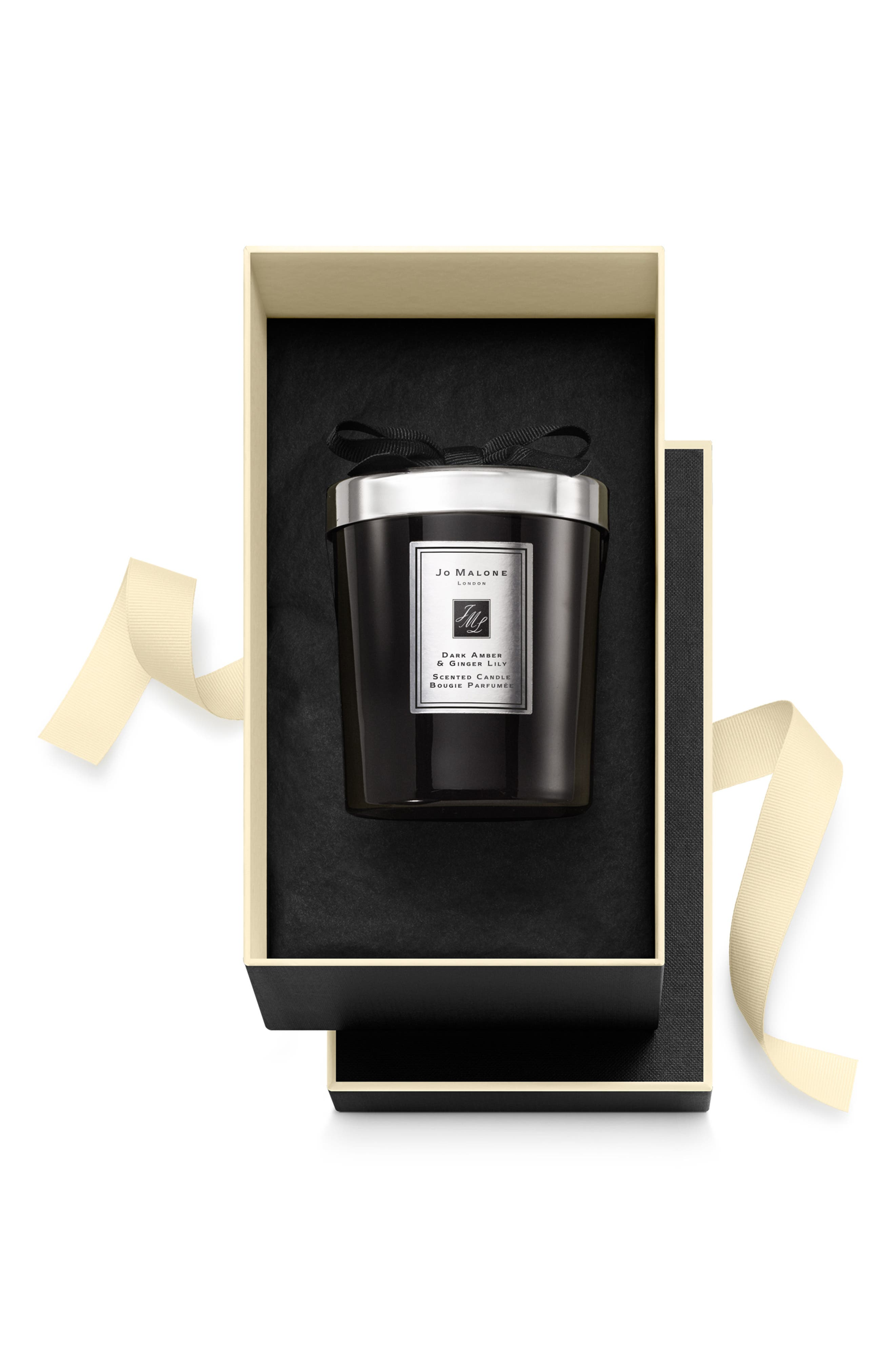 Dark Amber & Ginger Lily Candle, Main, color, NO COLOR
