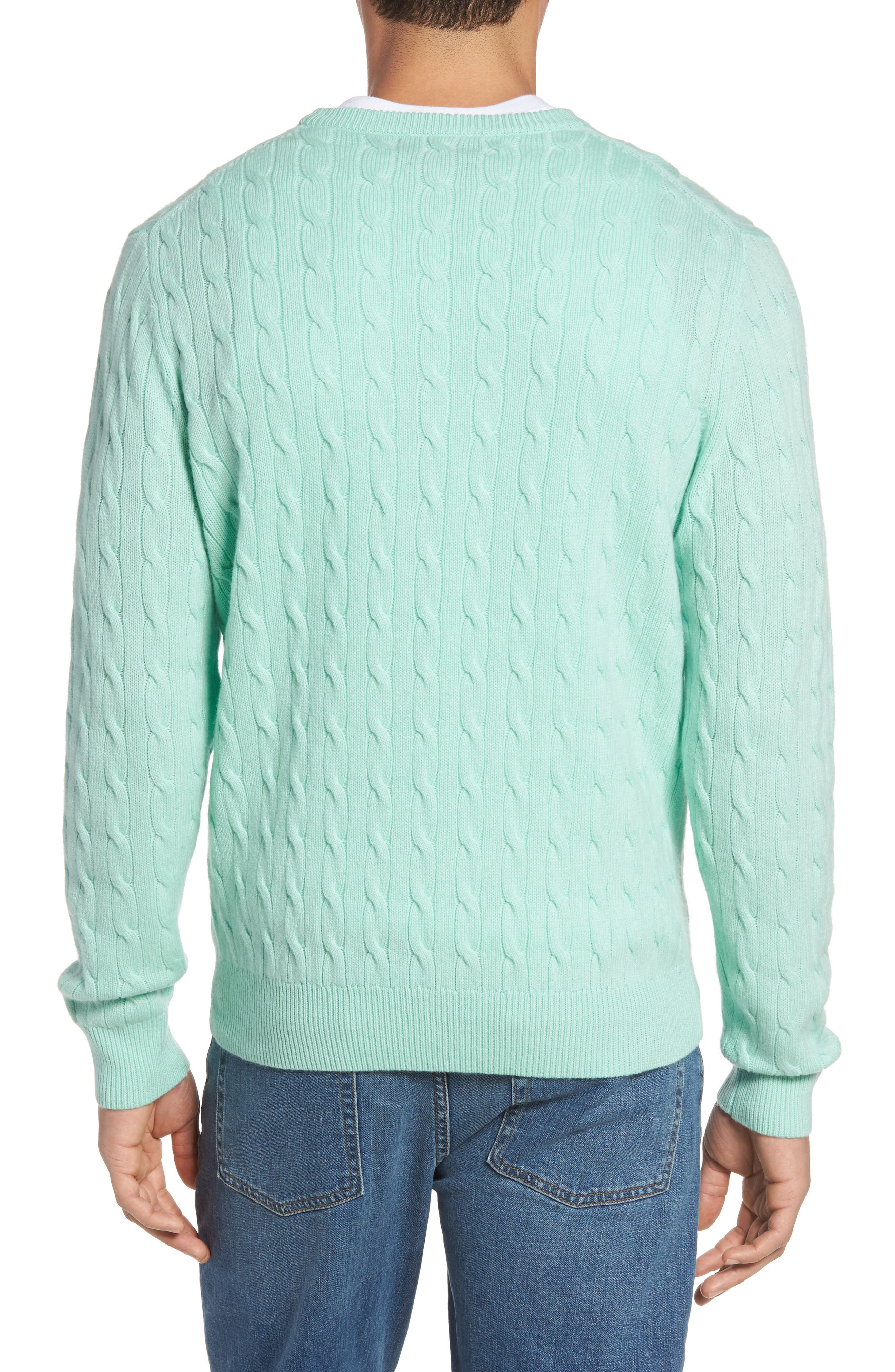Wool & Cashmere Cable Knit Sweater,                             Alternate thumbnail 2, color,                             301