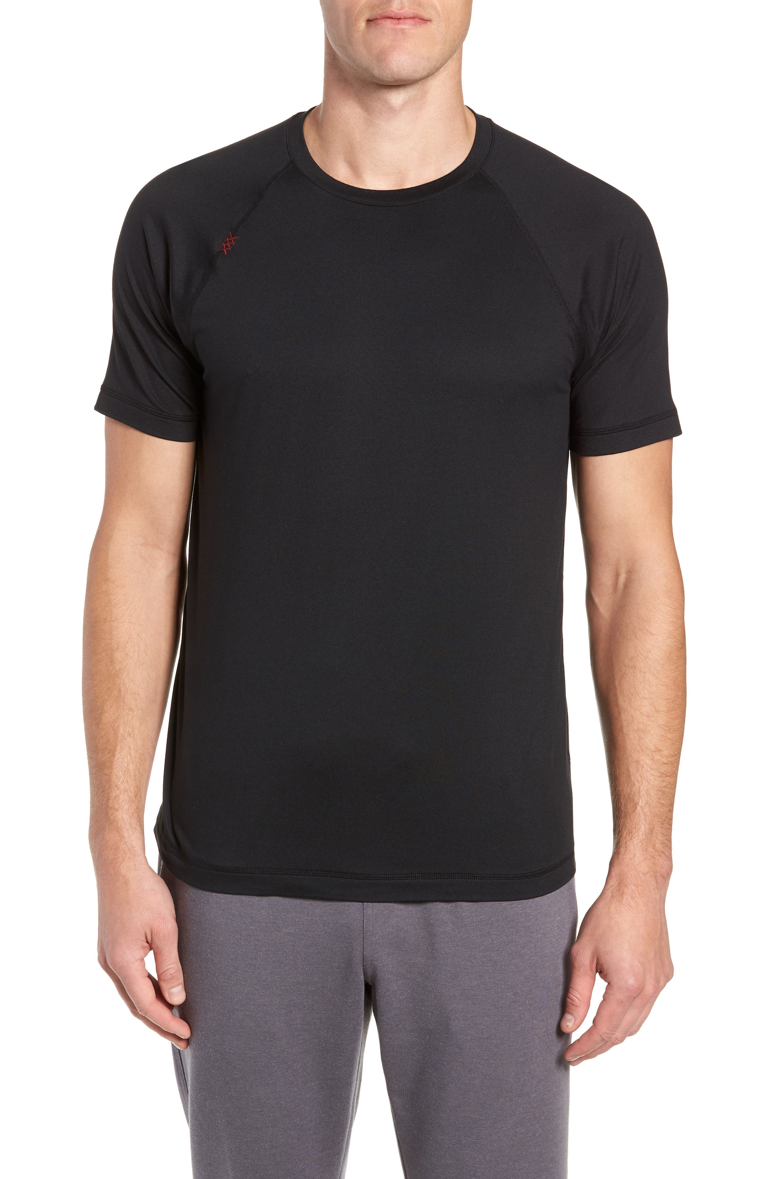 Reign Performance T-Shirt,                             Main thumbnail 1, color,                             BLACK