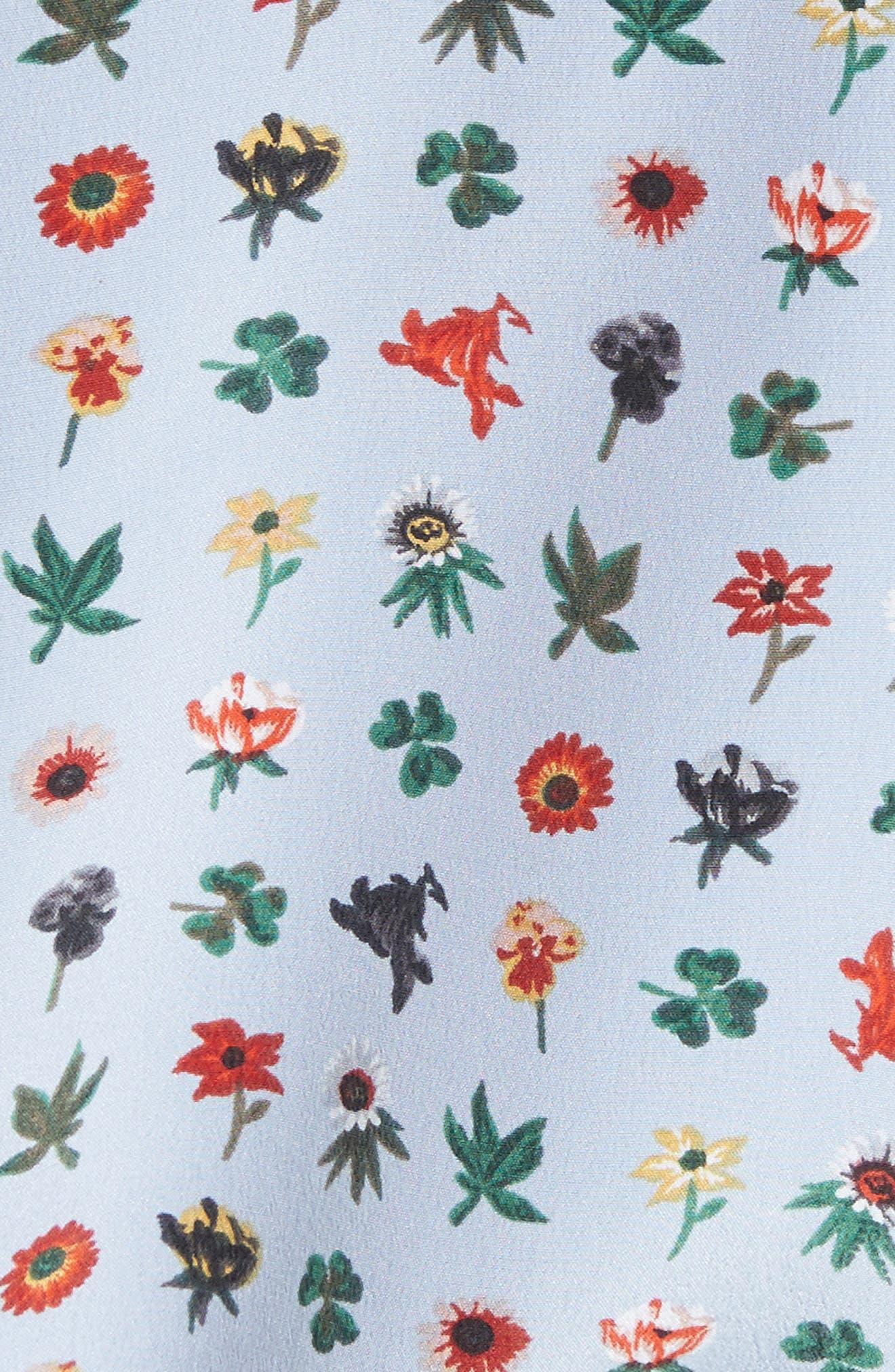 Aurora Tie Sleeve Floral Silk Blouse,                             Alternate thumbnail 10, color,