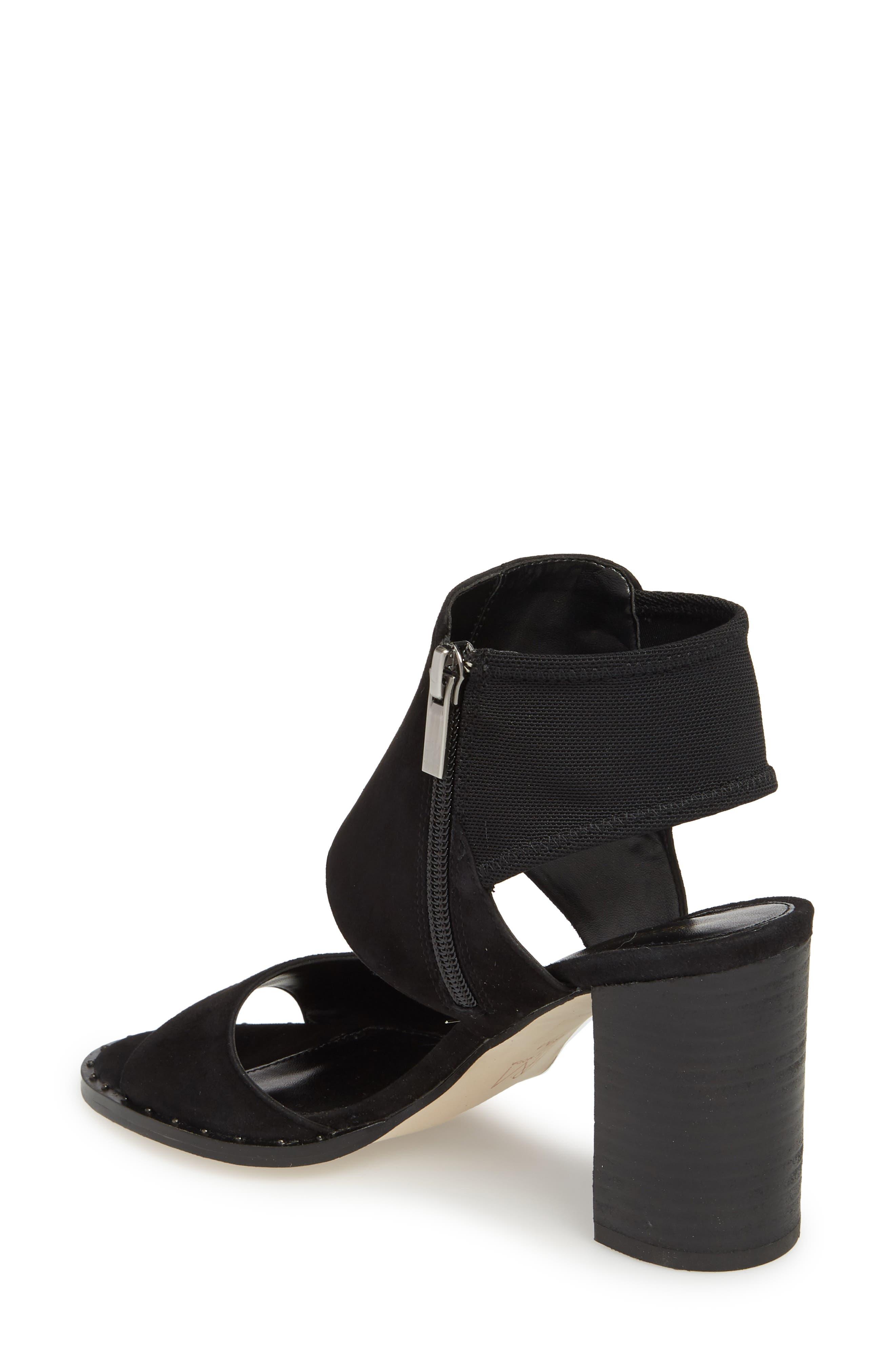 Grey Sandal,                             Alternate thumbnail 2, color,                             BLACK SUEDE