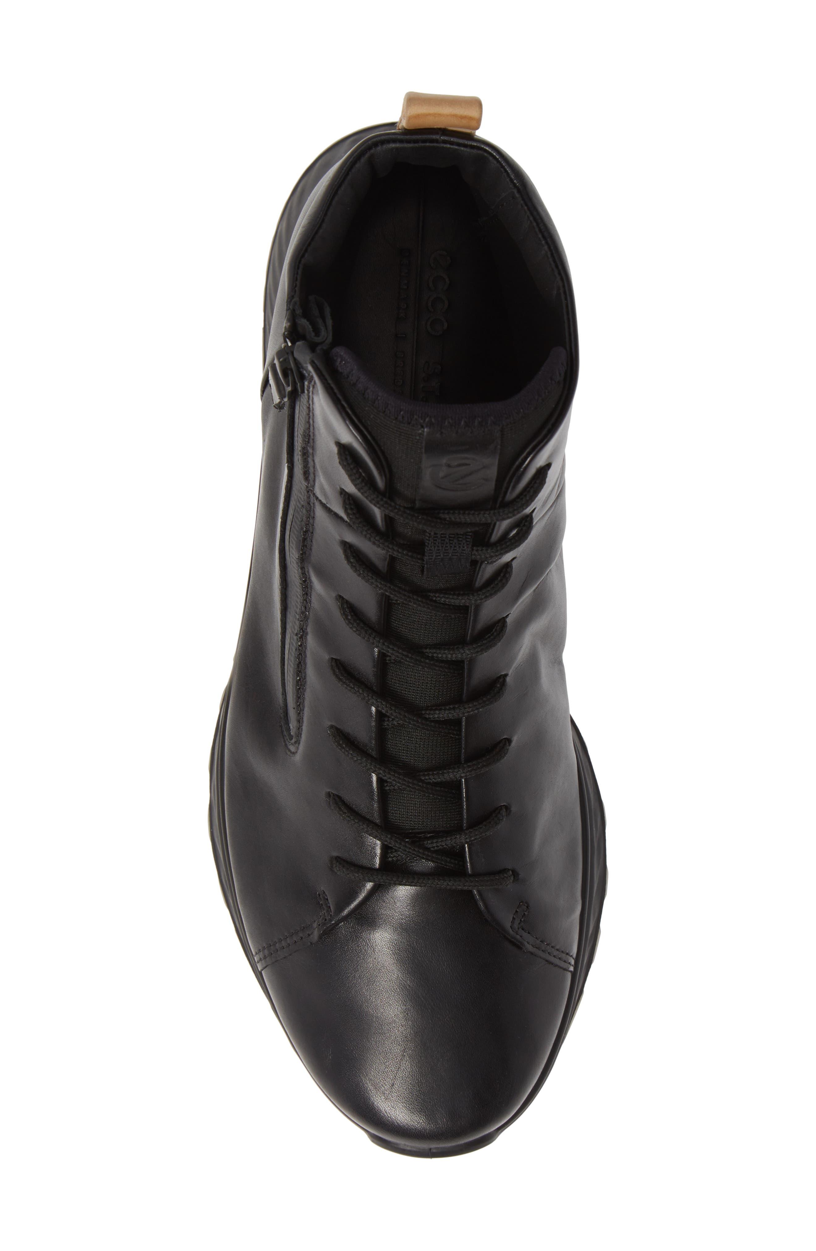 ST1 High Top Sneaker,                             Alternate thumbnail 5, color,                             BLACK/BLACK LEATHER