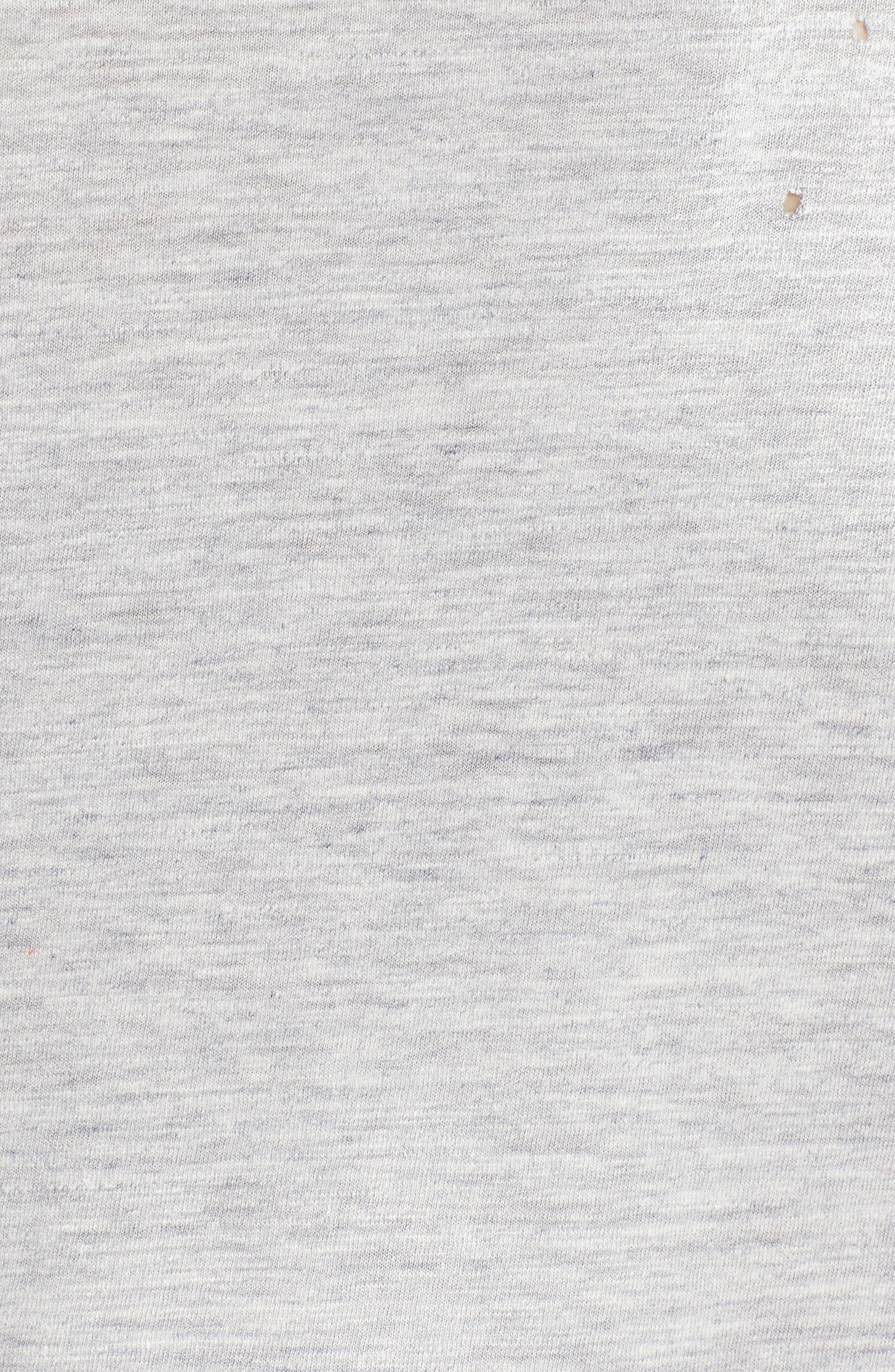 Longline Logo Graphic T-Shirt,                             Alternate thumbnail 5, color,                             GREY