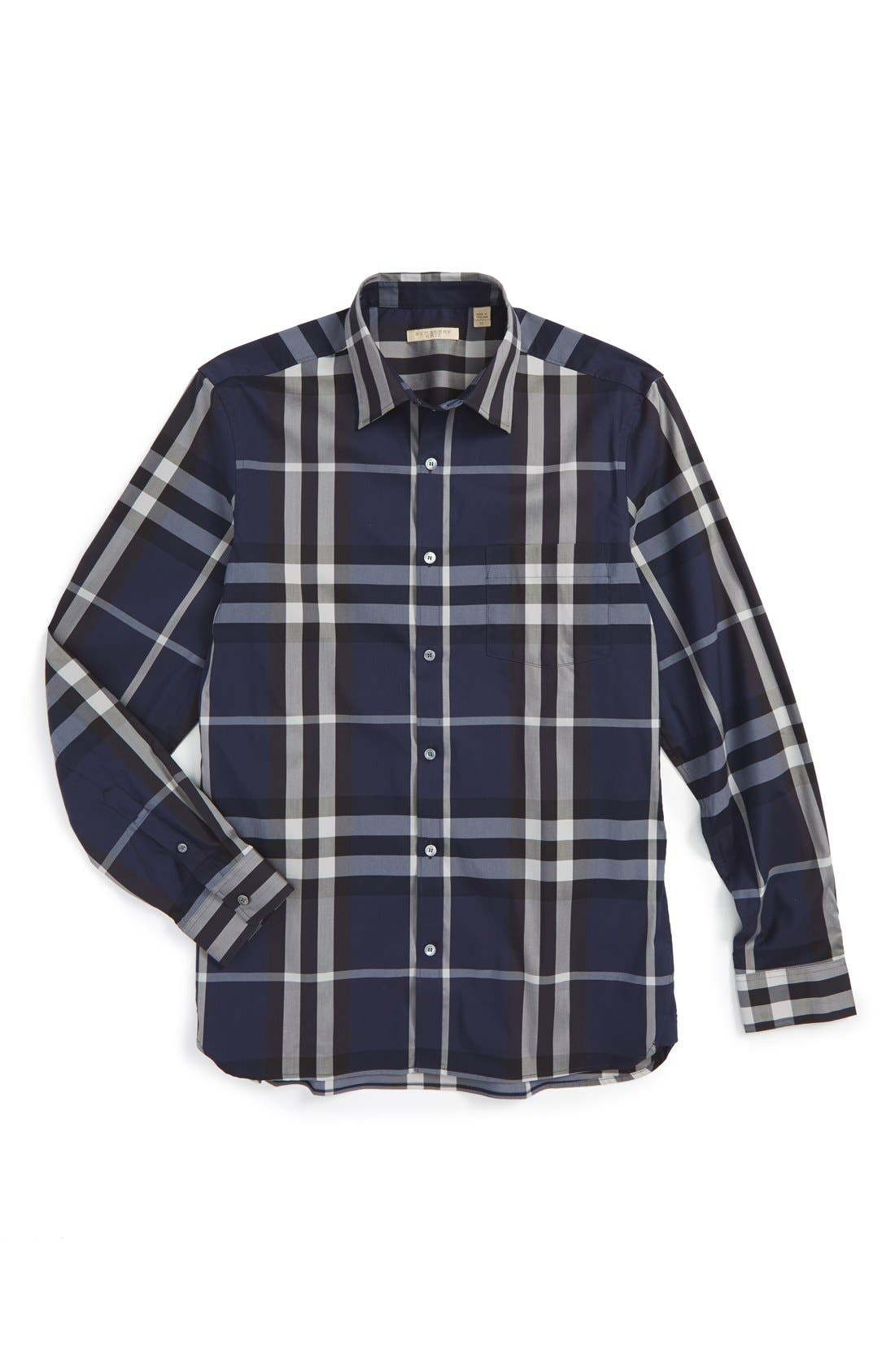 Nelson Check Sport Shirt,                             Alternate thumbnail 125, color,