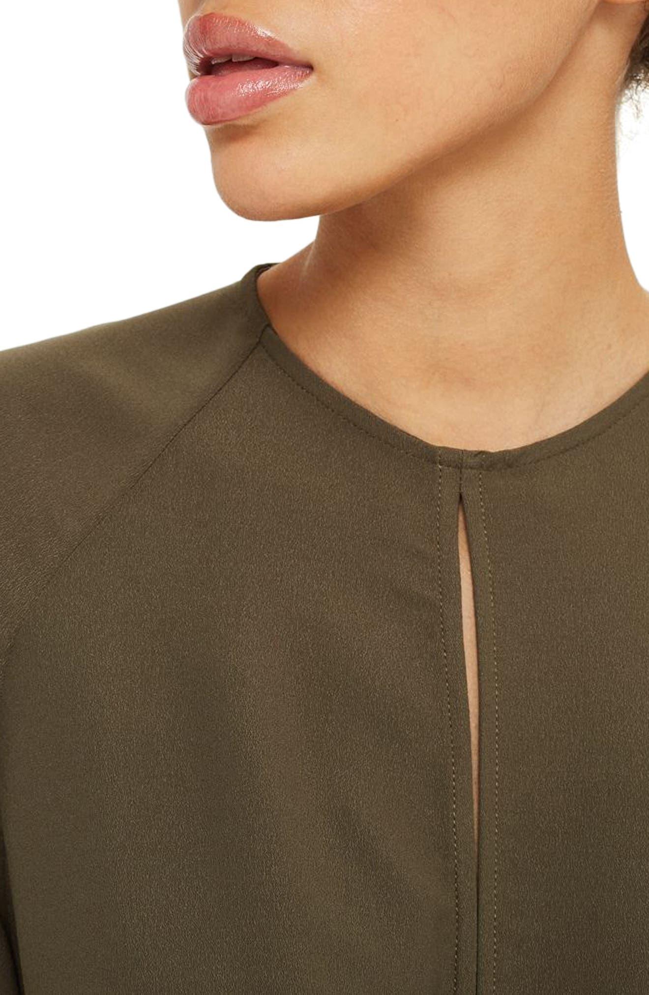 Tie Front Minidress,                             Alternate thumbnail 14, color,