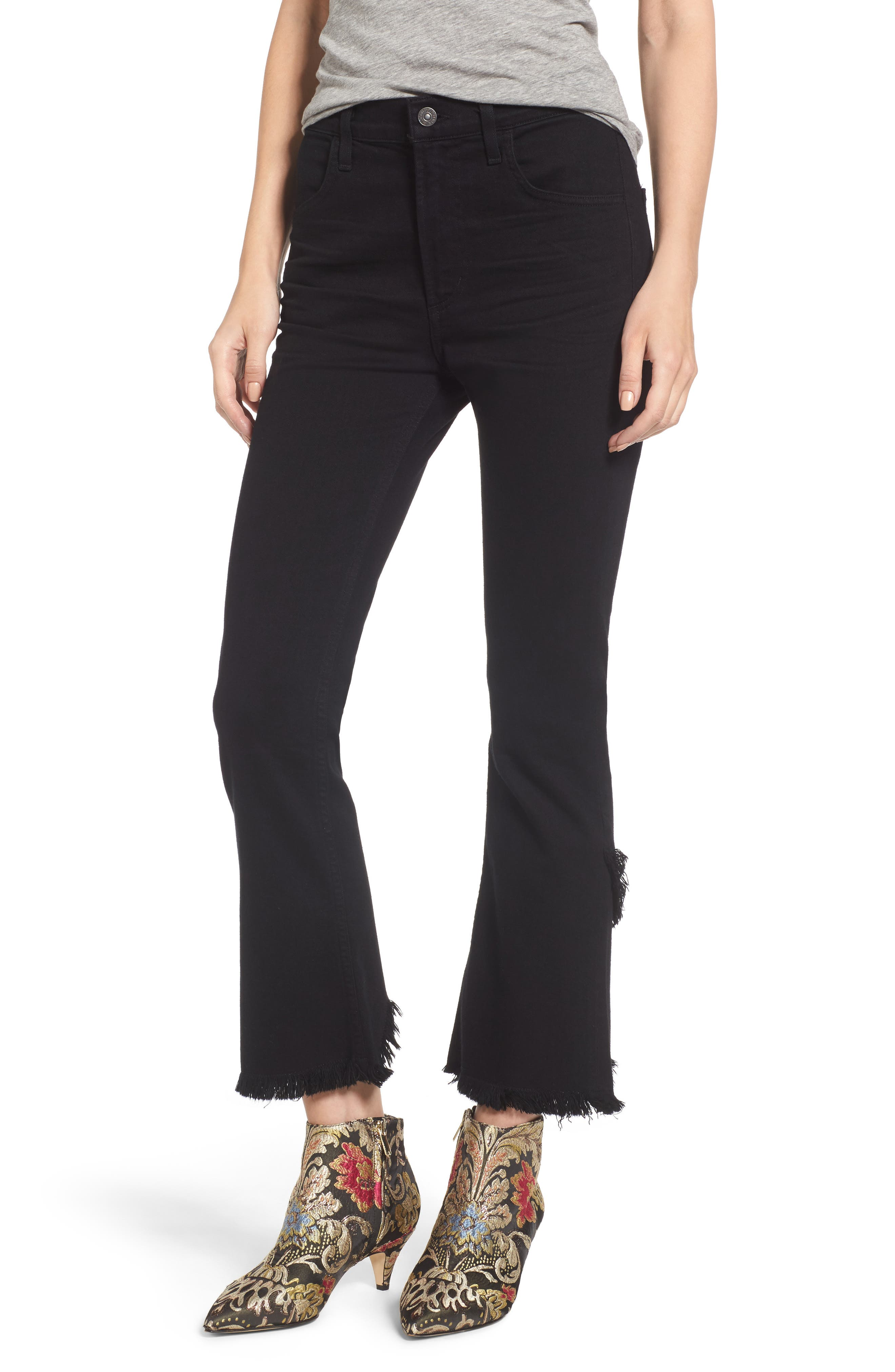 Drew Crop Flare Jeans,                         Main,                         color, 008