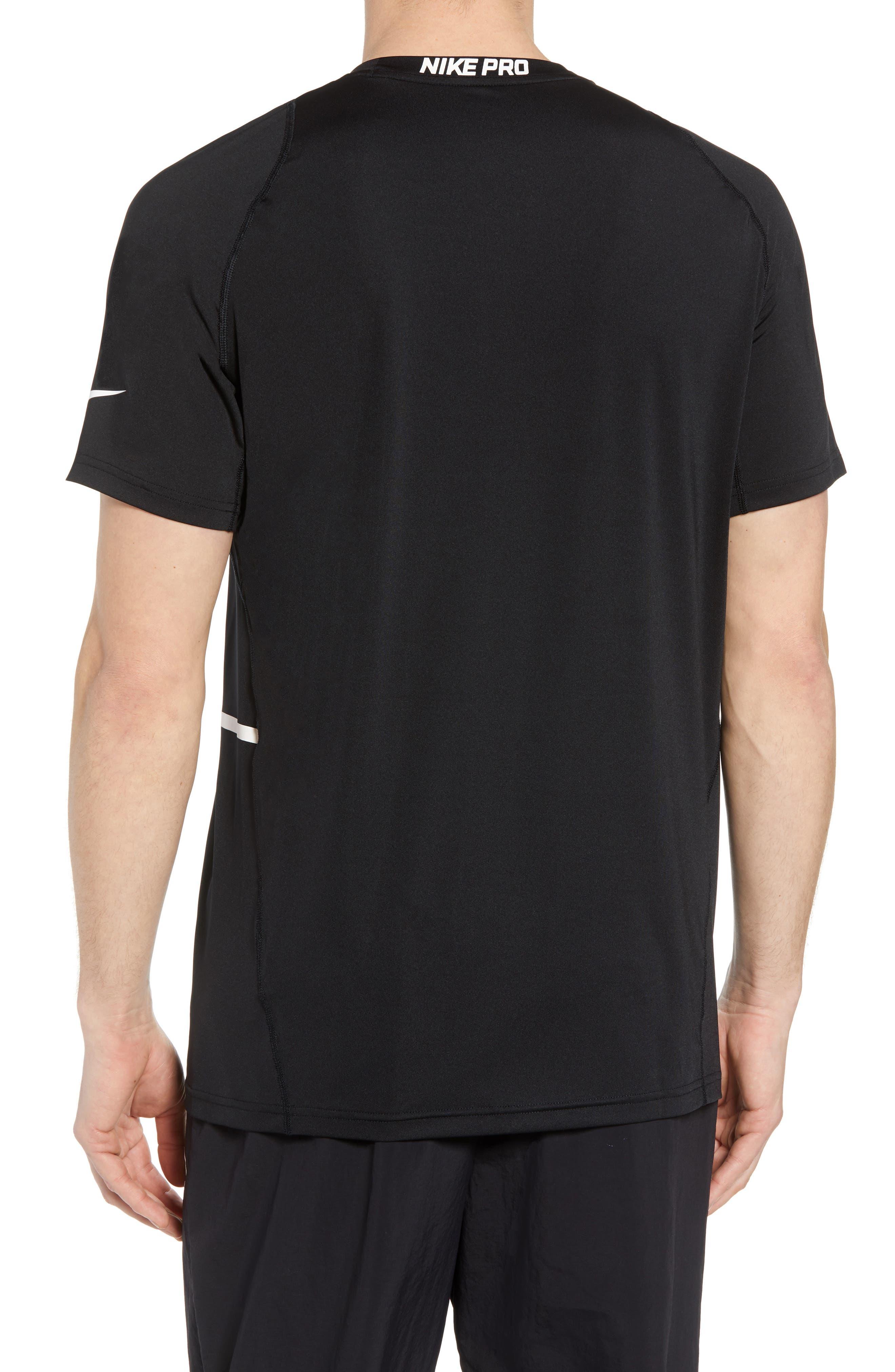 Pro Dry Logo T-Shirt,                             Alternate thumbnail 2, color,                             BLACK/ DARK GREY/ WHITE
