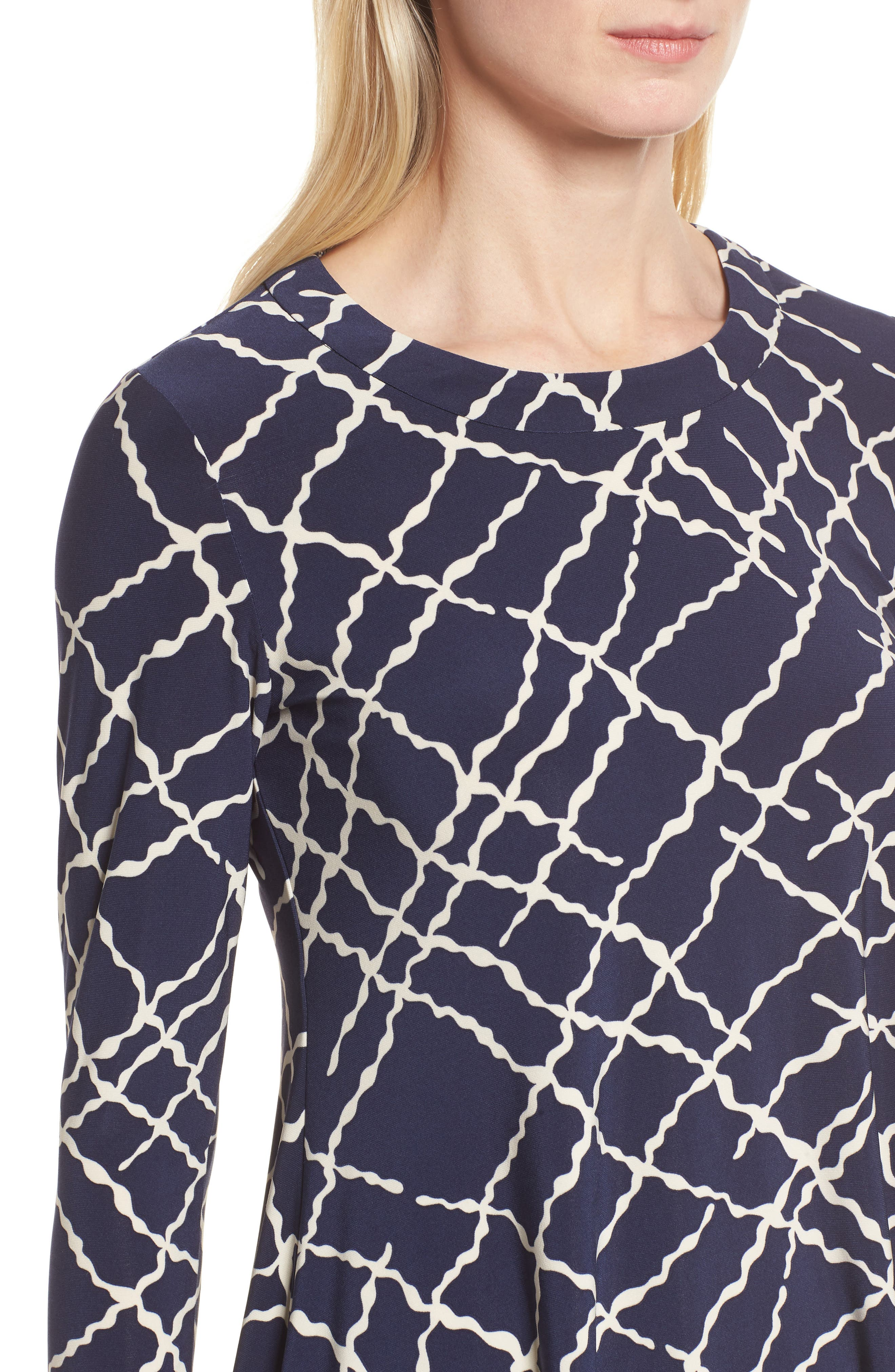 Squiggle Print High/Low Top,                             Alternate thumbnail 4, color,                             400