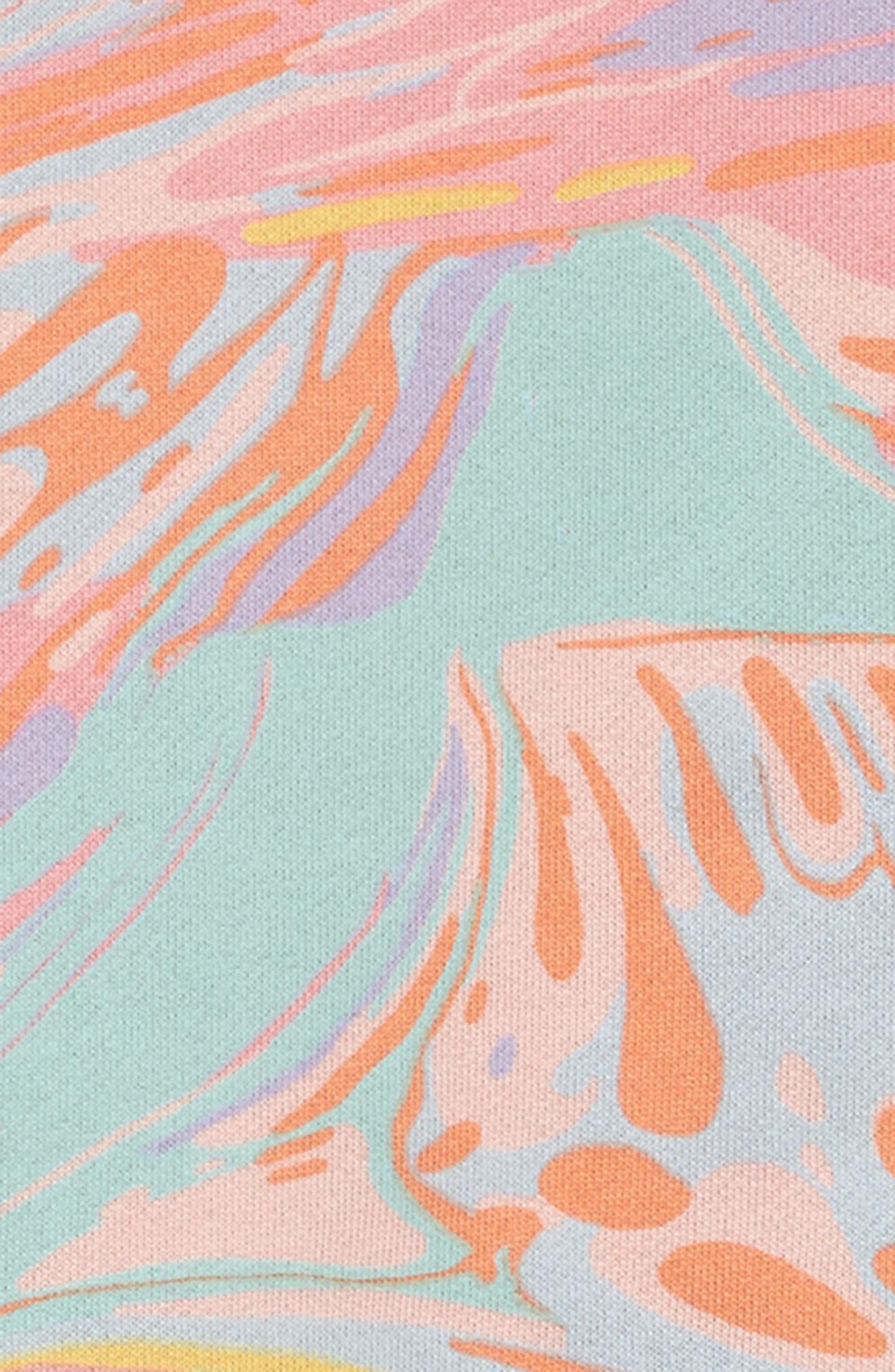 Kids Savannah Marble Print Dress,                             Alternate thumbnail 3, color,                             660