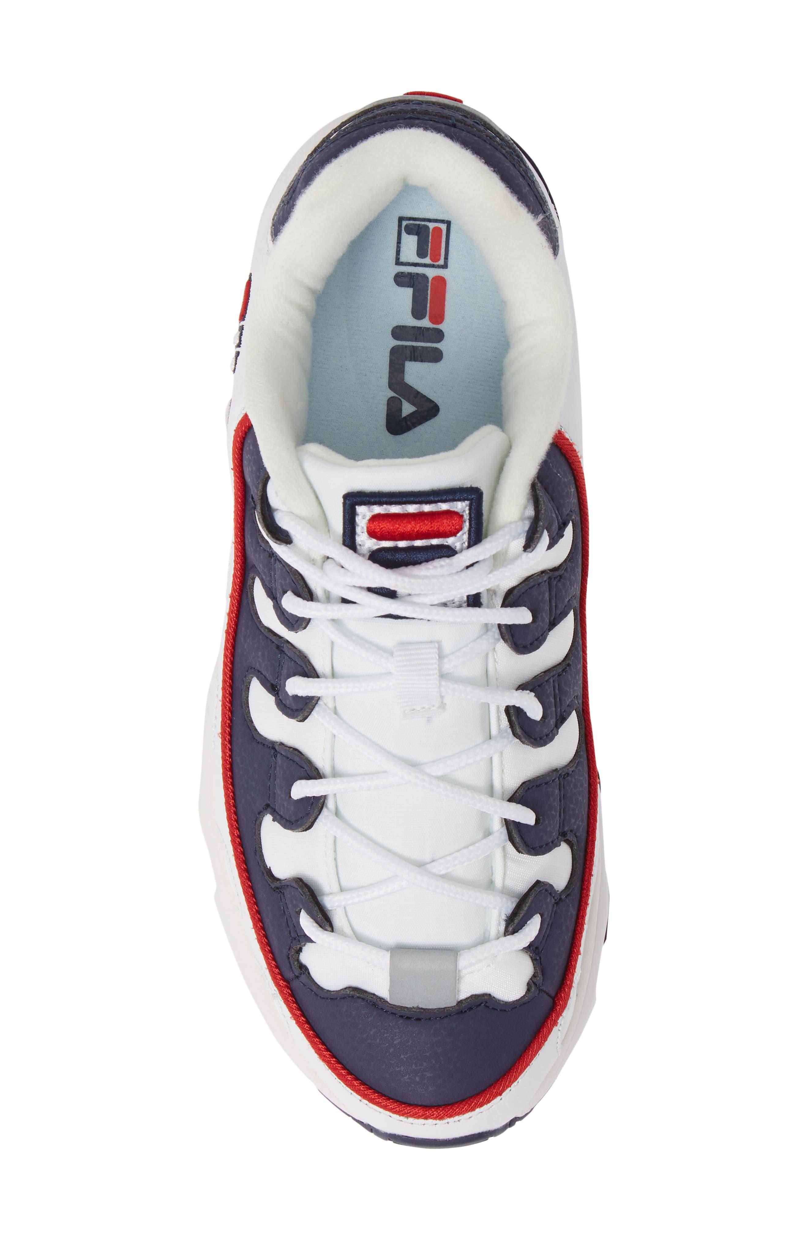 Silva Trainer Sneaker,                             Alternate thumbnail 5, color,                             WHITE/ NAVY/ RED