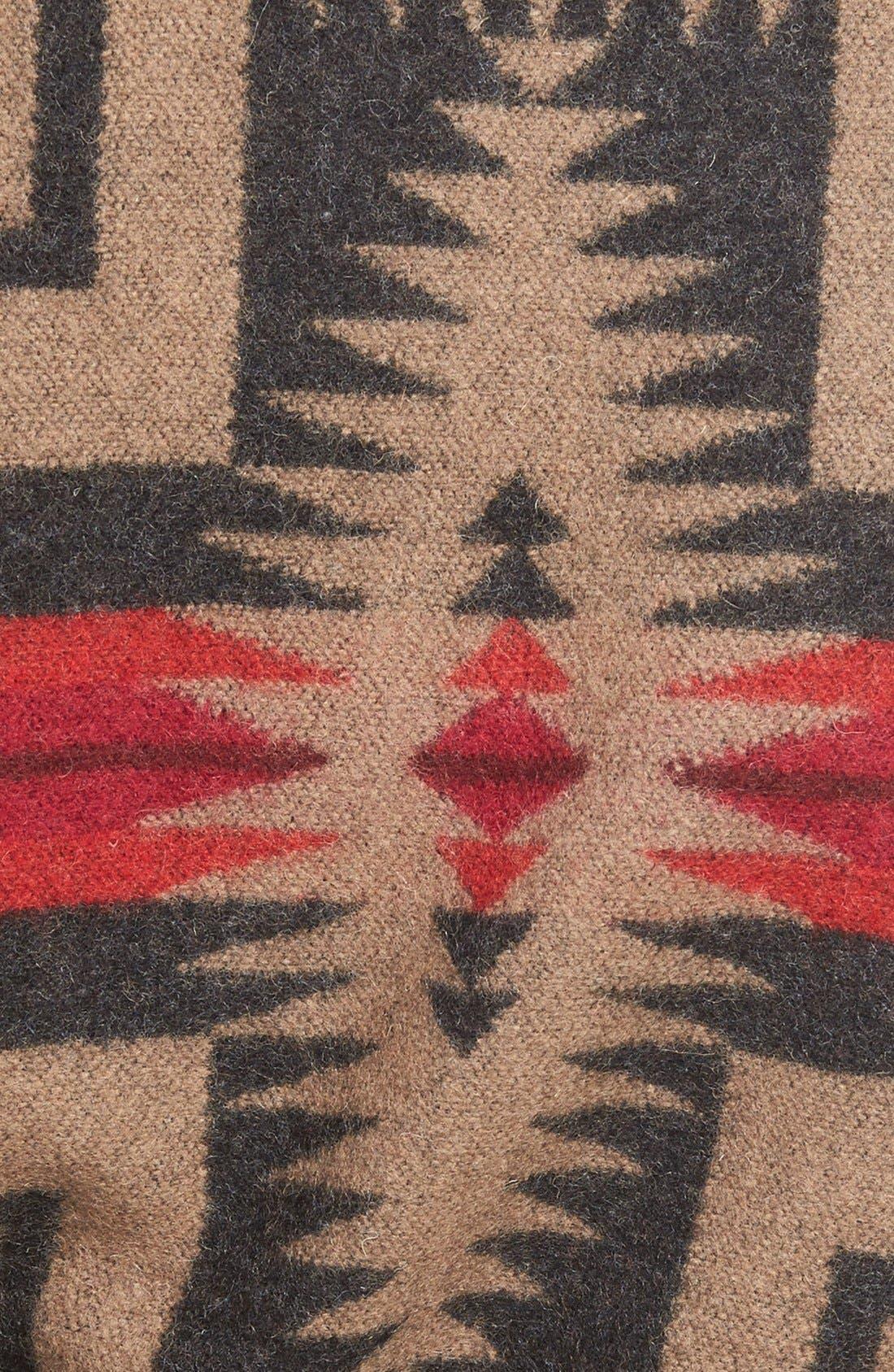 PENDLETON,                             Jacquard Wool Blanket Wrap Coat,                             Alternate thumbnail 2, color,                             035
