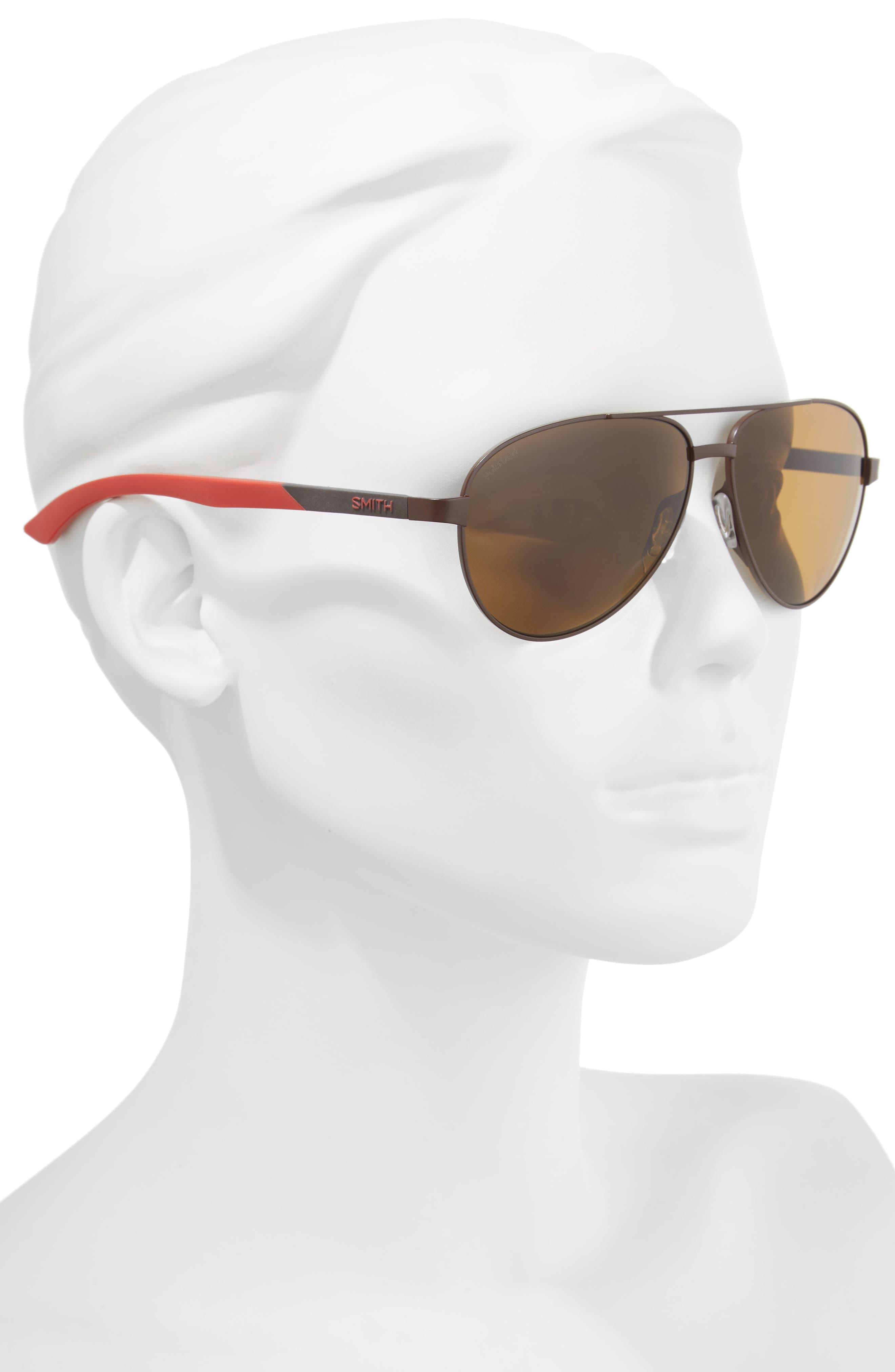 Salute 59mm Polarized Aviator Sunglasses,                             Alternate thumbnail 2, color,                             200