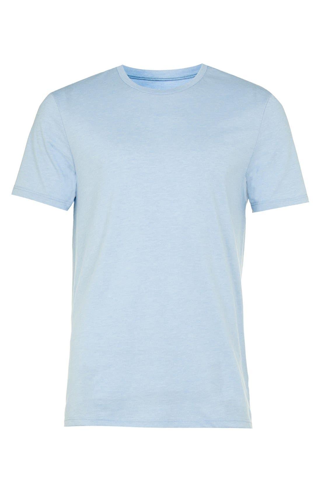 Slim Fit Crewneck T-Shirt,                             Alternate thumbnail 166, color,