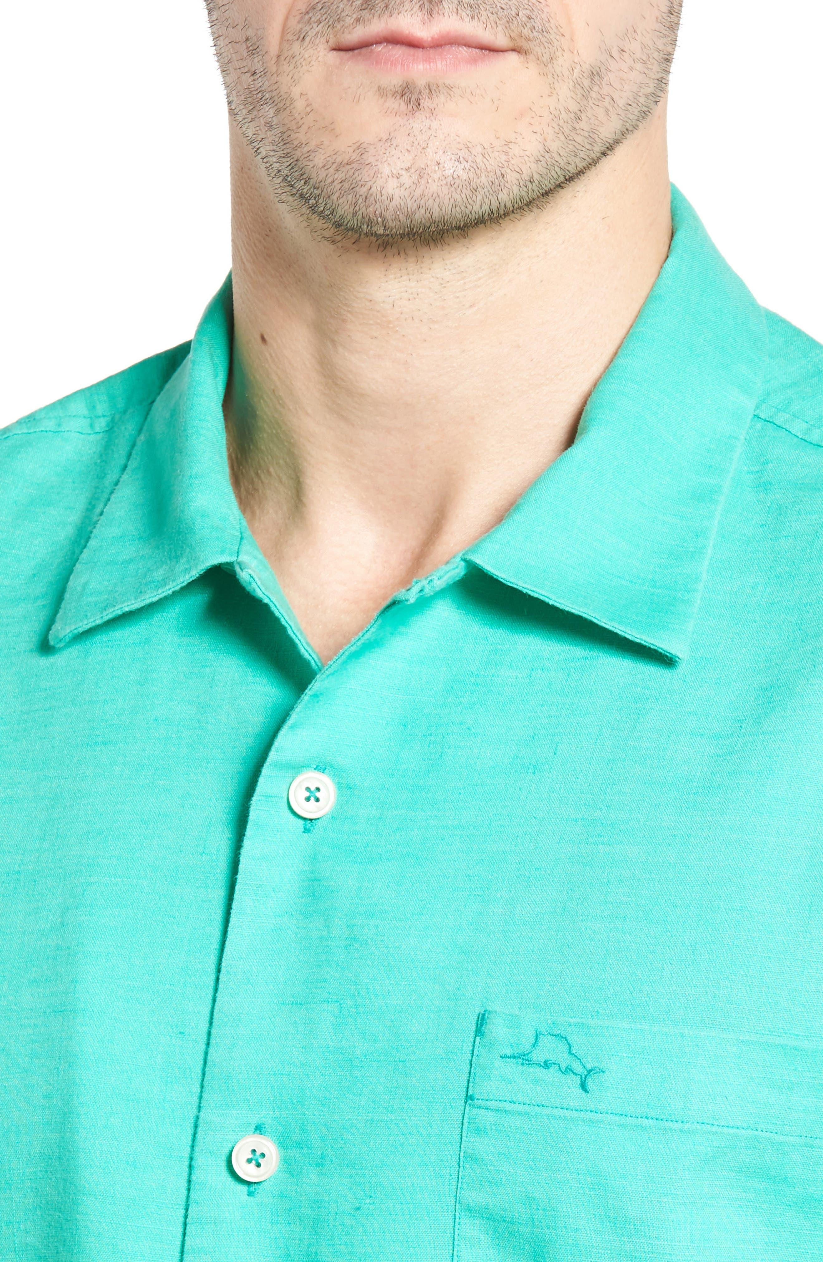 Monaco Tides Standard Fit Linen Blend Camp Shirt,                             Alternate thumbnail 21, color,