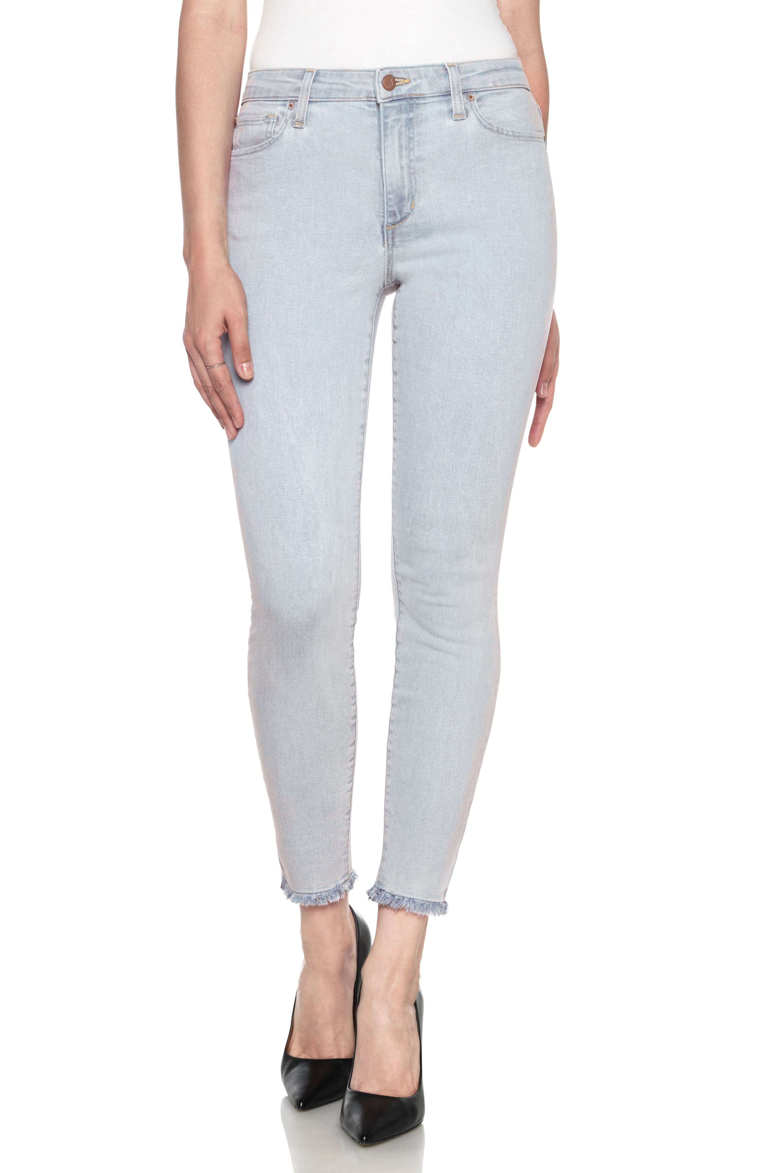 Flawless - Charlie High Waist Ankle Skinny Jeans,                             Main thumbnail 1, color,                             415